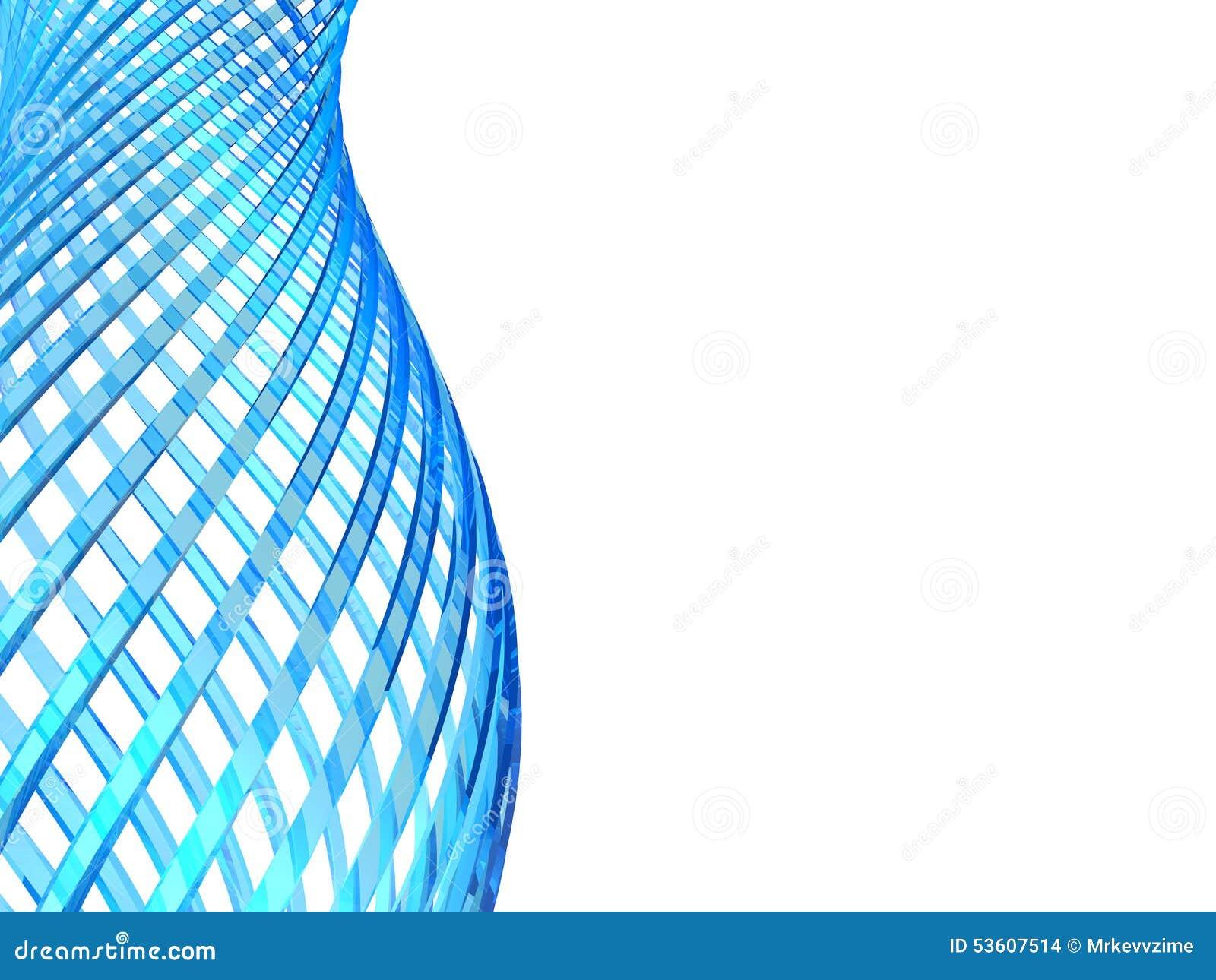 Boucles en verre bleues abstraites