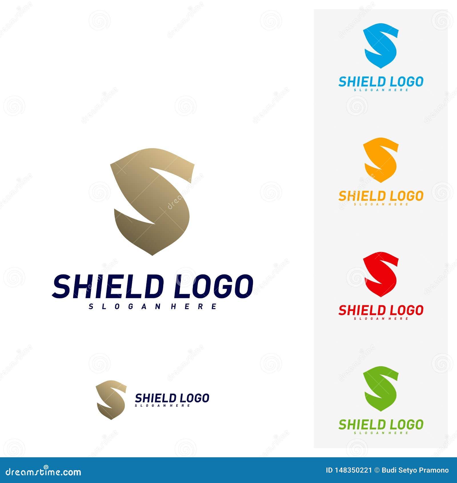 Bouclier initial Logo Design Concepts de S Conception d illustration de vecteur de bouclier de lettre de S Symbole d ic?ne