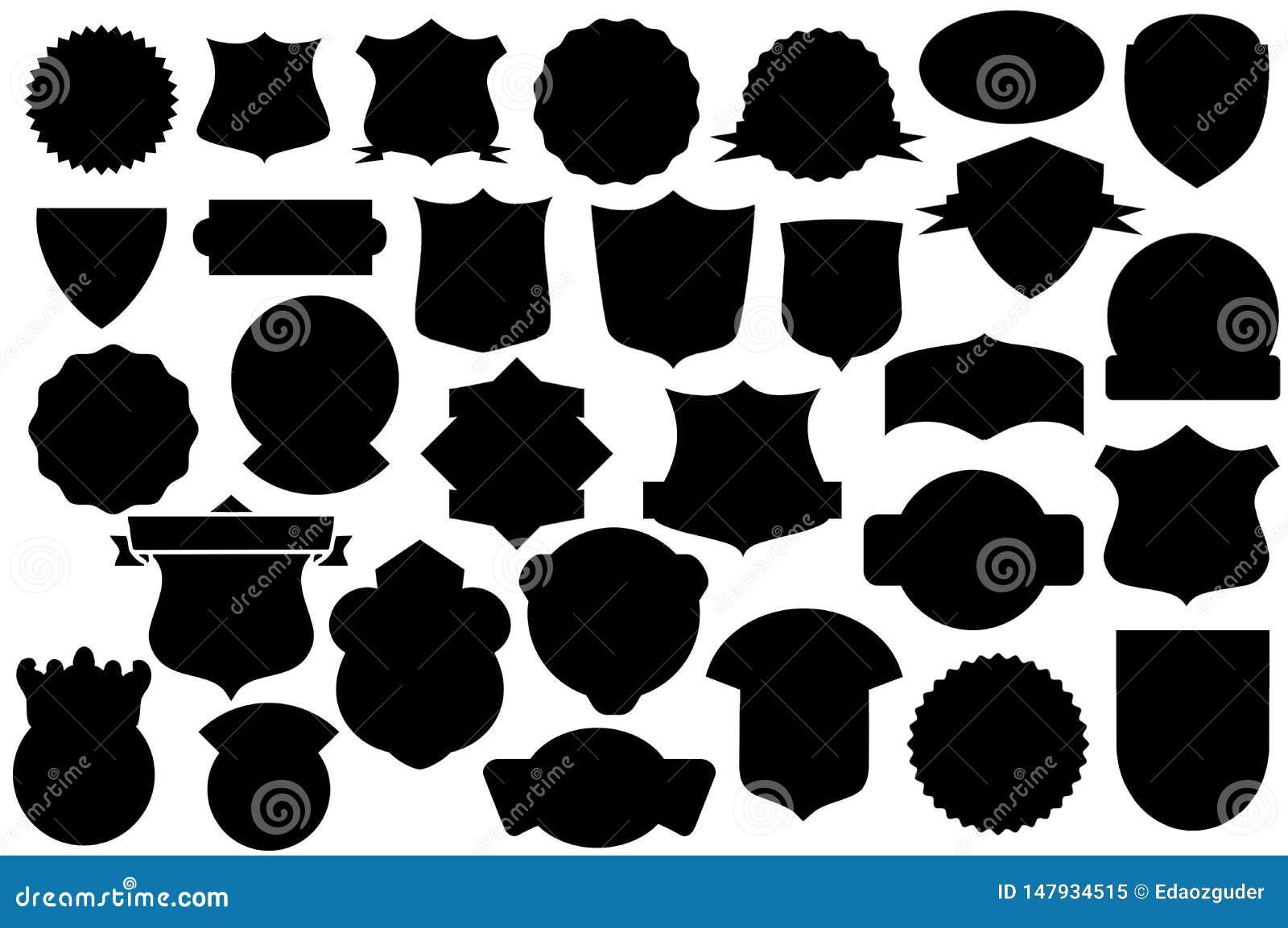 Boucliers noirs ensemble, modèle de bouclier