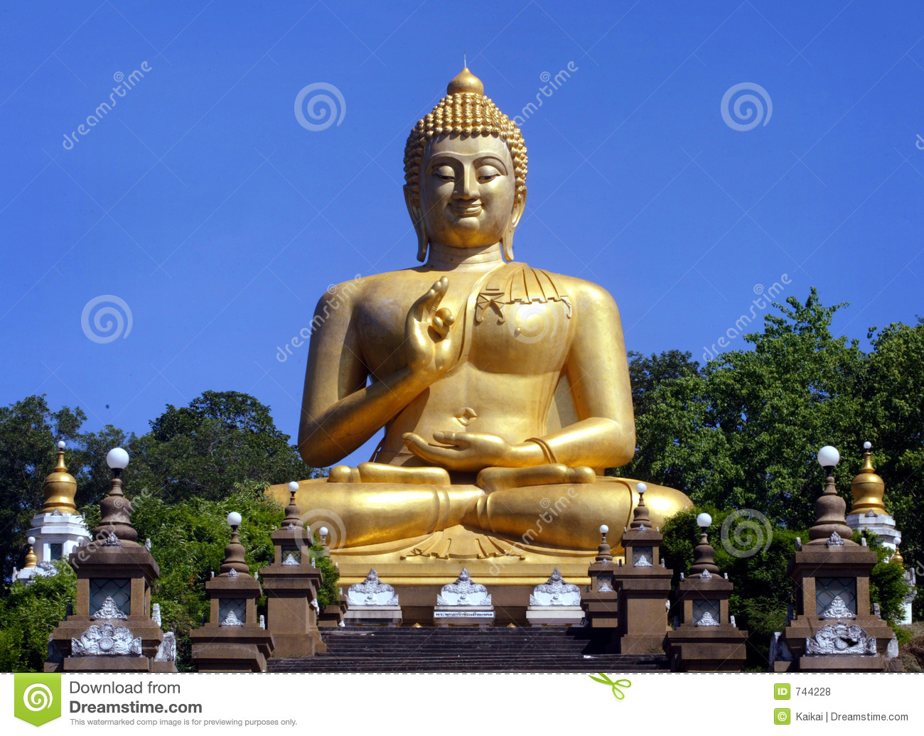 Download Bouddha photo stock. Image du géant, bouddhisme, oriental - 744228
