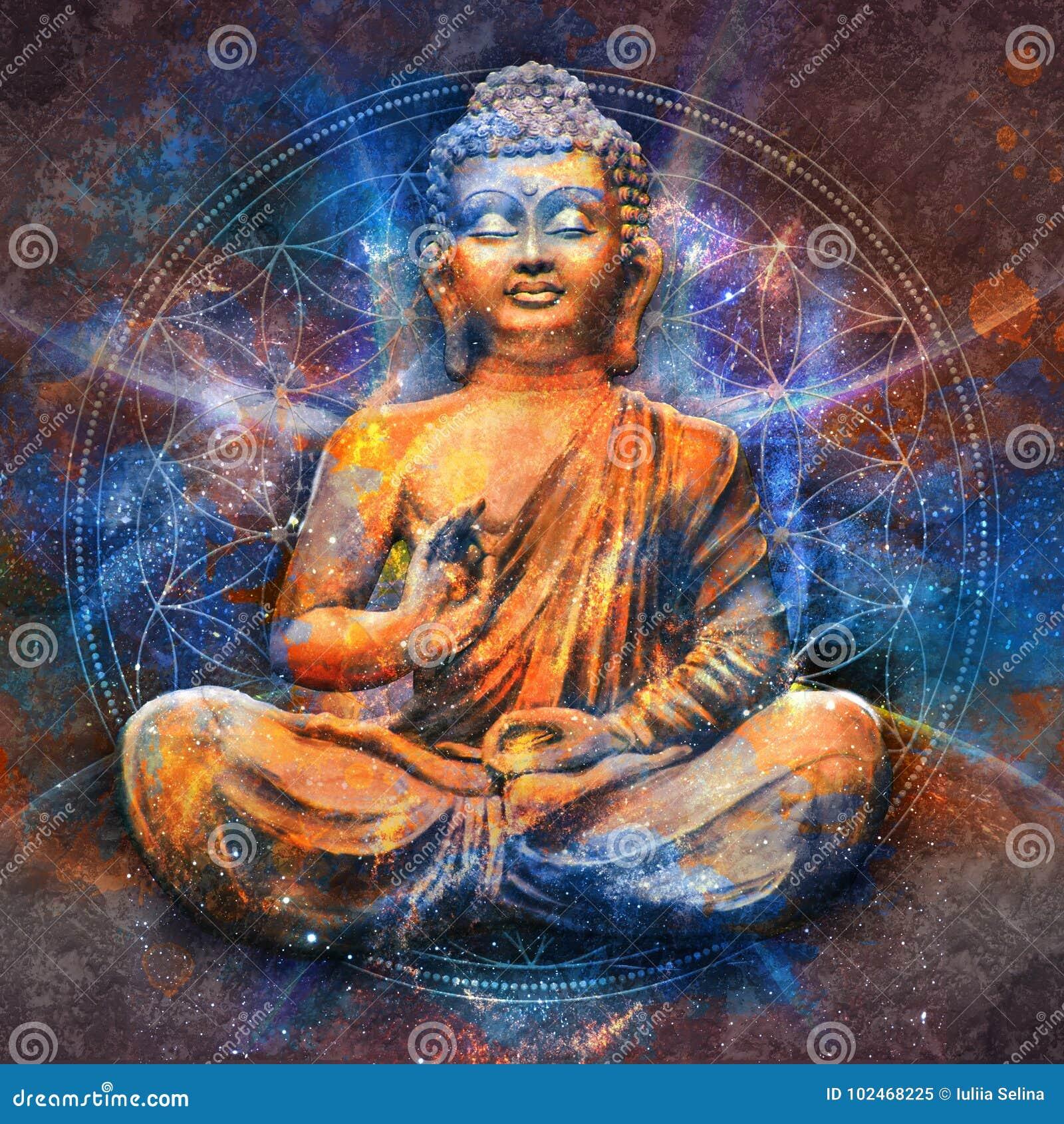 Bouddha assis dans Lotus Pose