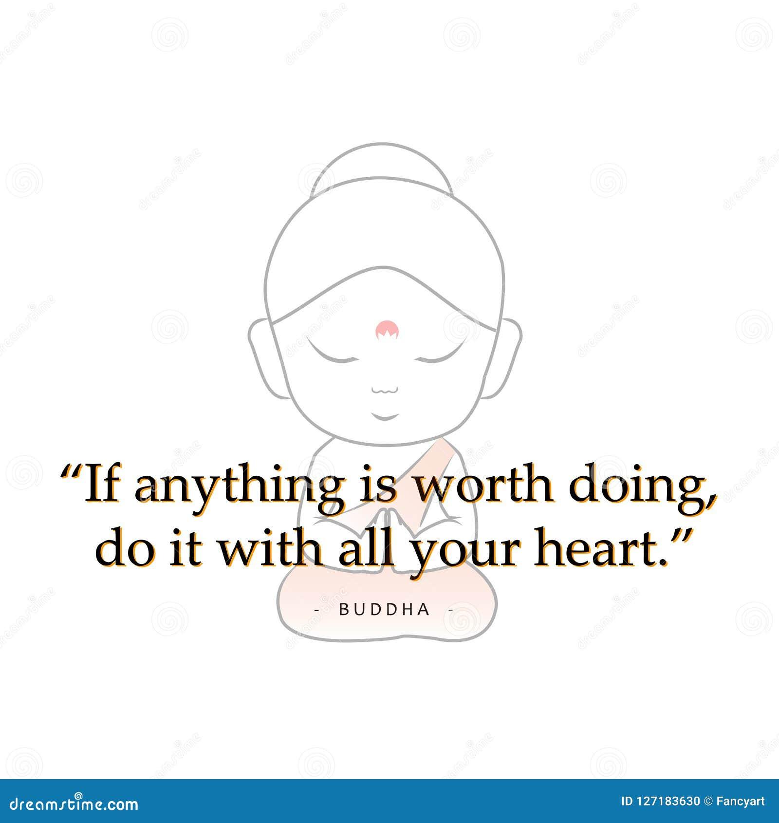 Bouddha Avec La Citation De Motivation Illustration De