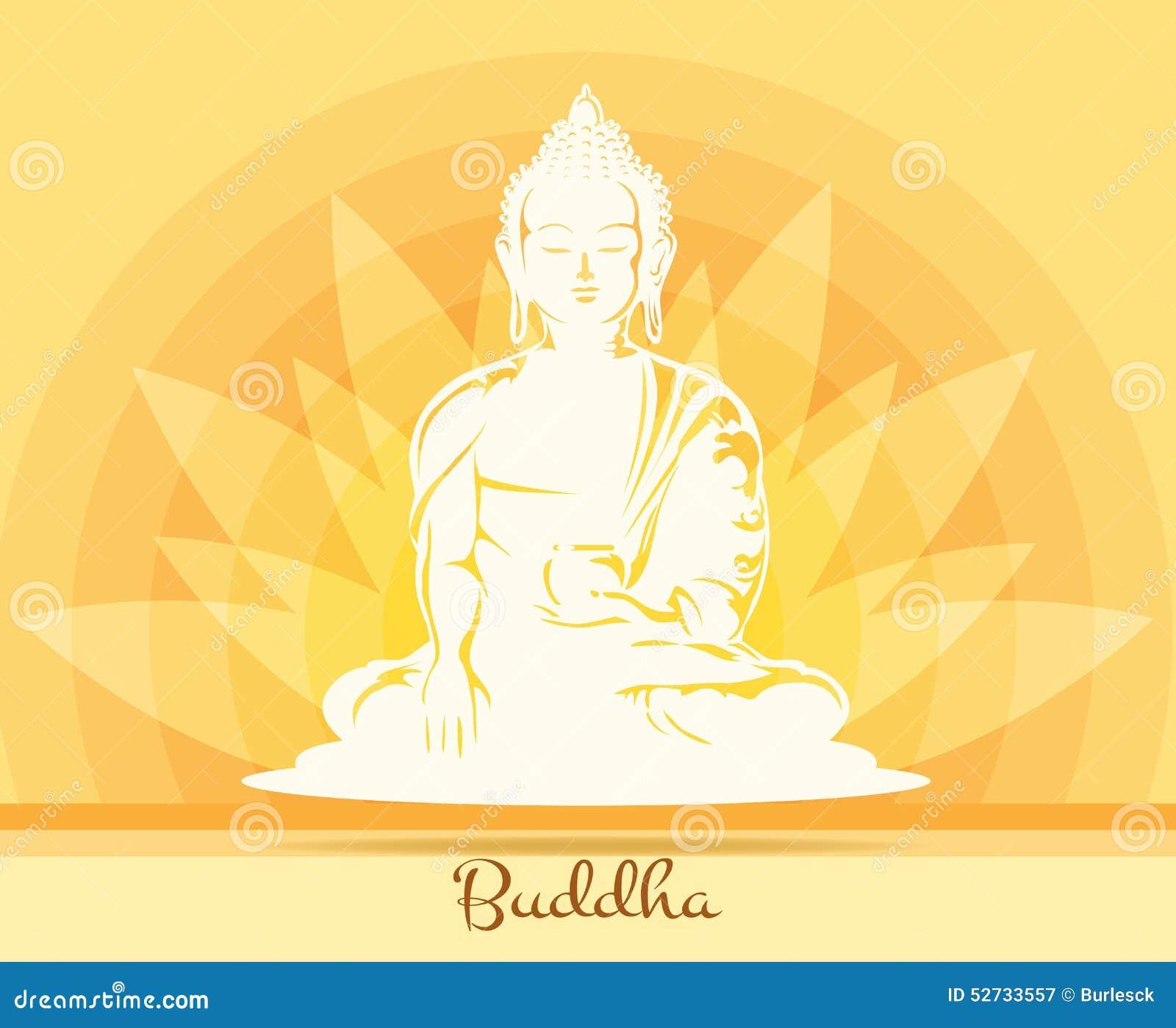 Bouddha Avec La Fleur De Lotus Illustration de Vecteur - Illustration du esprit, exercice: 52733557