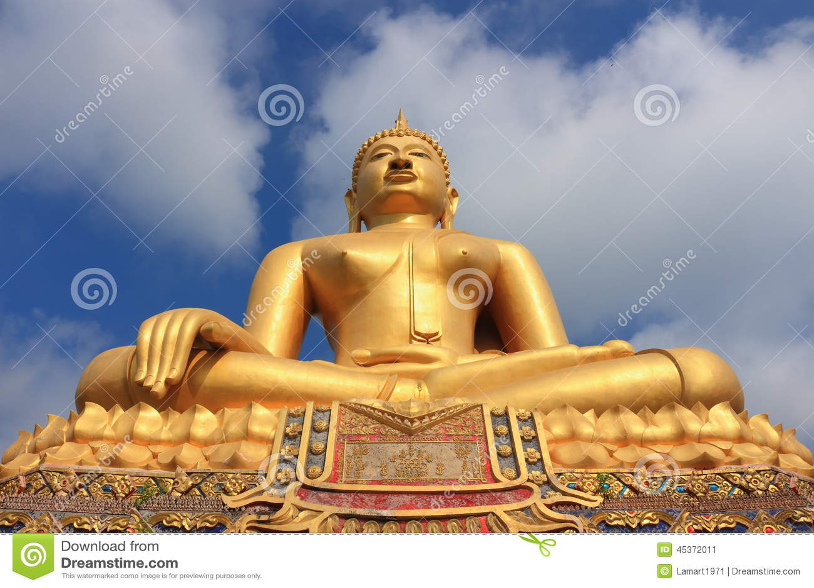 Bouddha chez Wat In Kanlaya