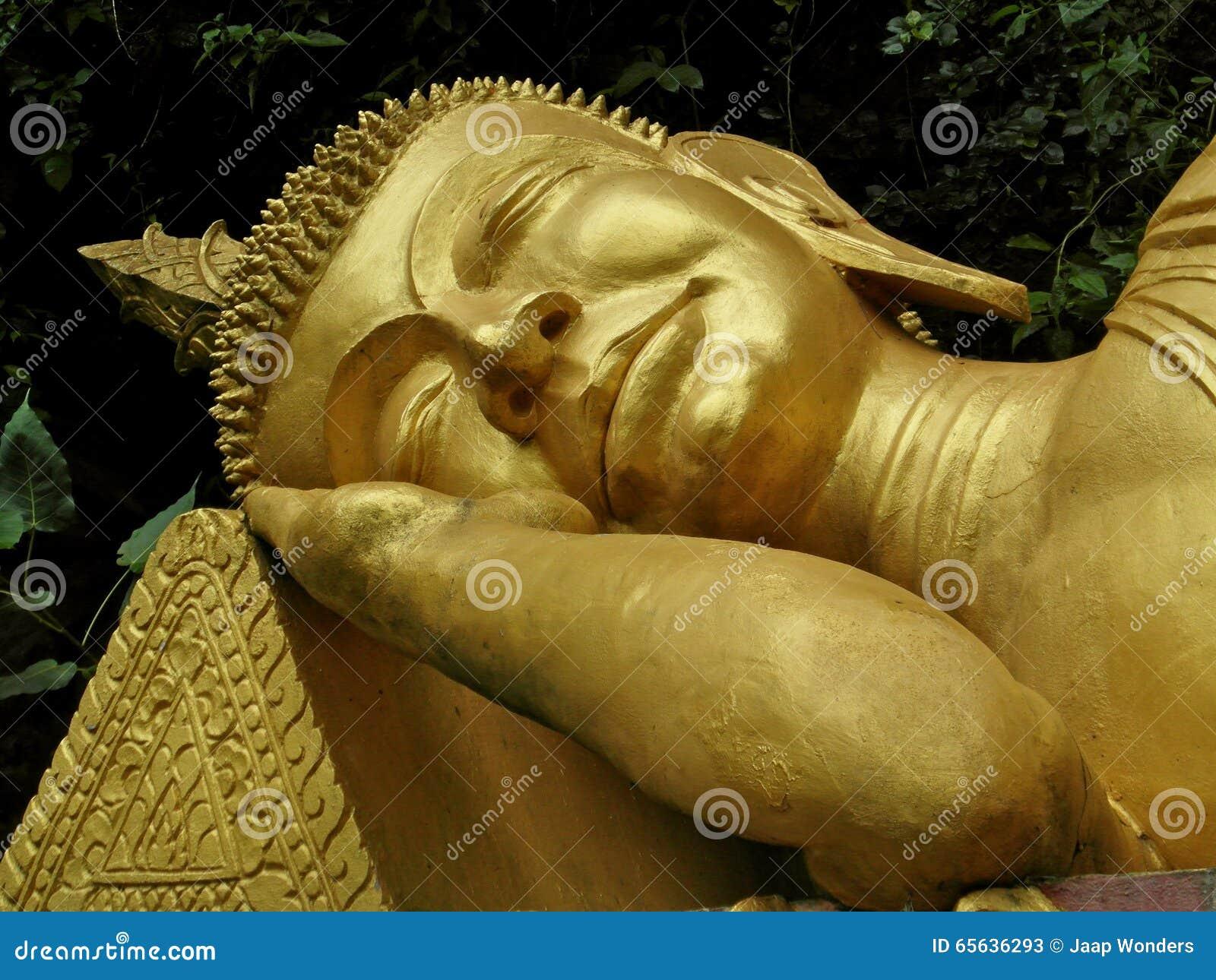 Bouddha d or de sommeil Laos