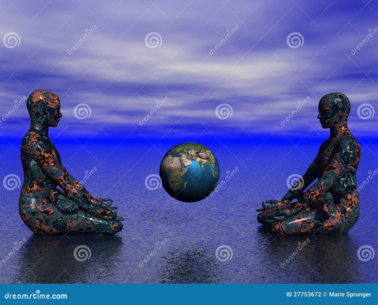 Bouddha et terre