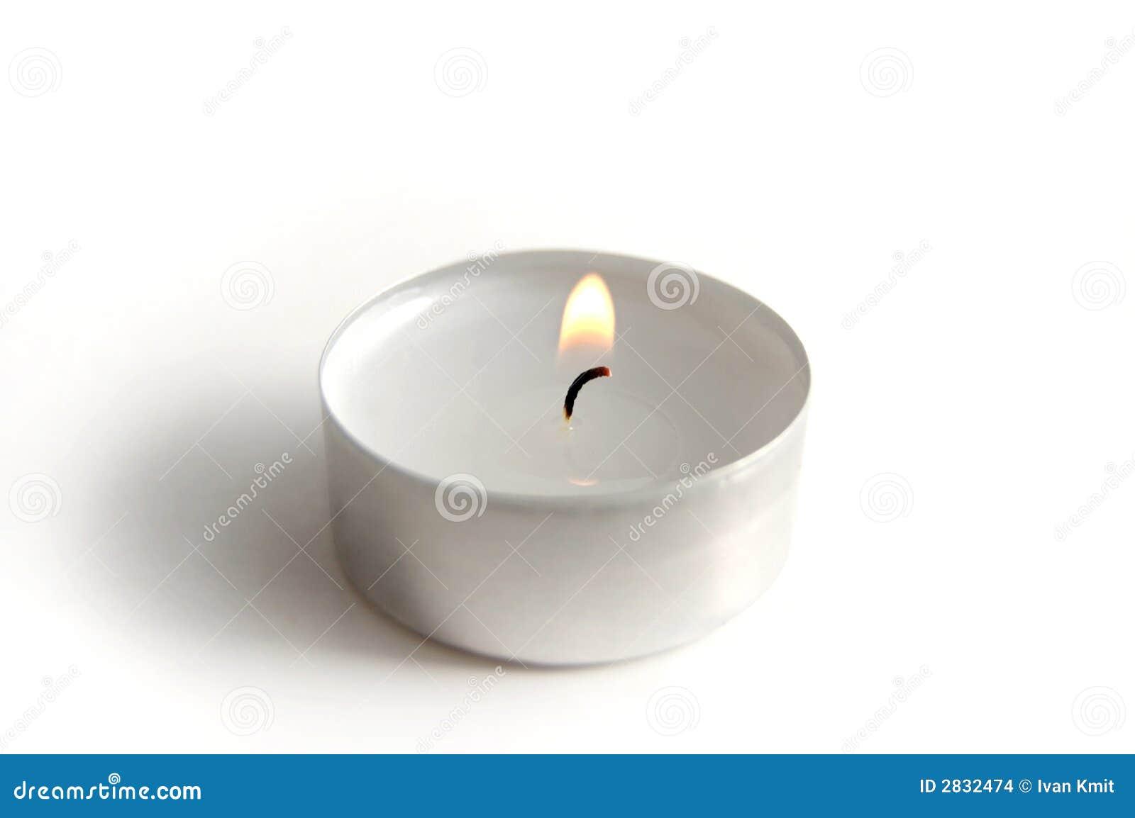 bougie photo stock image du blanc fondu lueur r flexion 2832474. Black Bedroom Furniture Sets. Home Design Ideas
