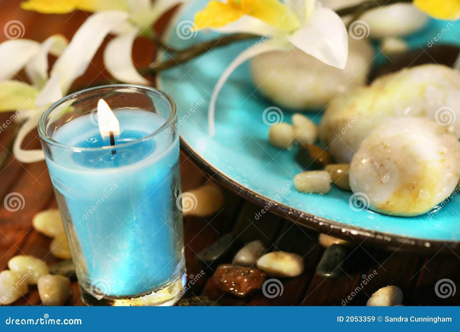 Bougie aromatherpy bleue