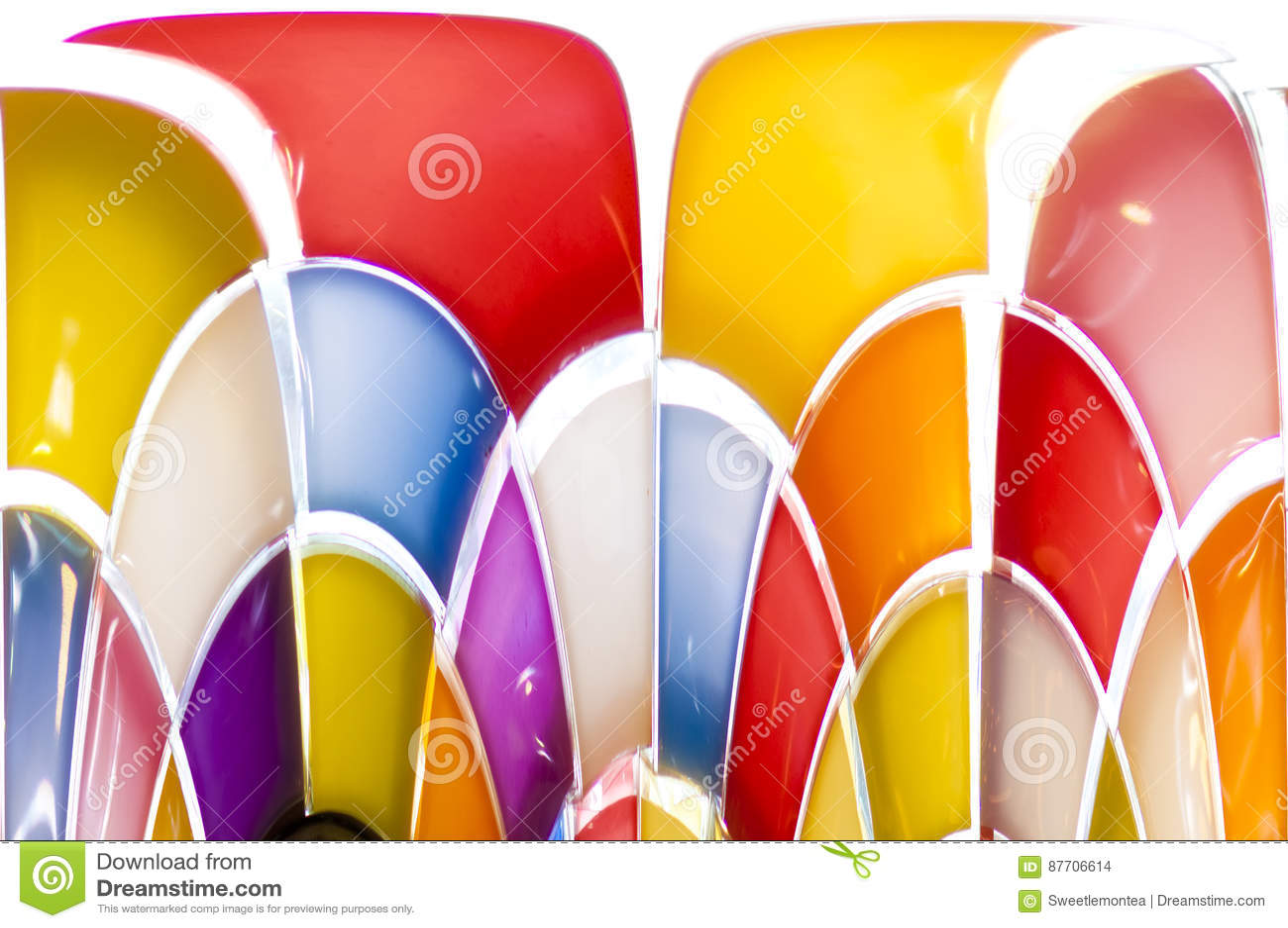 Bougie colorée