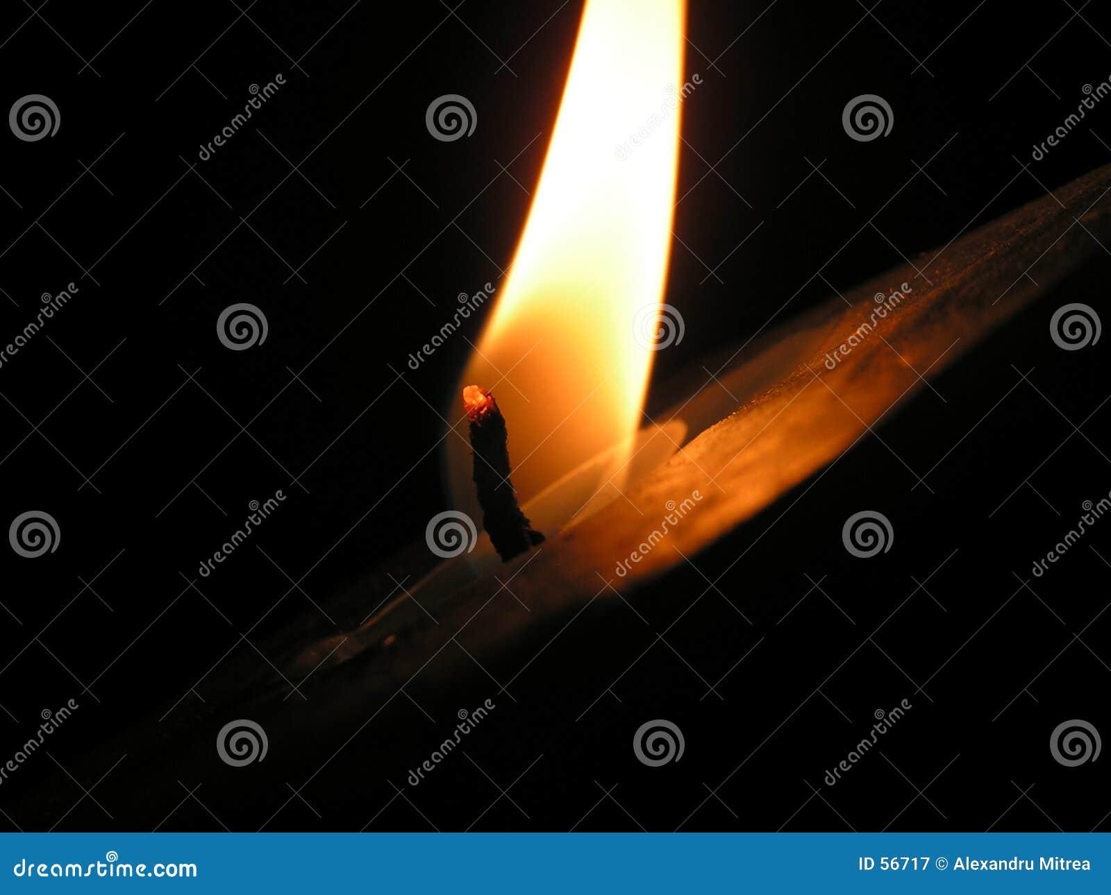 Download Bougie dans l'obscurité image stock. Image du incendie, chaud - 56717