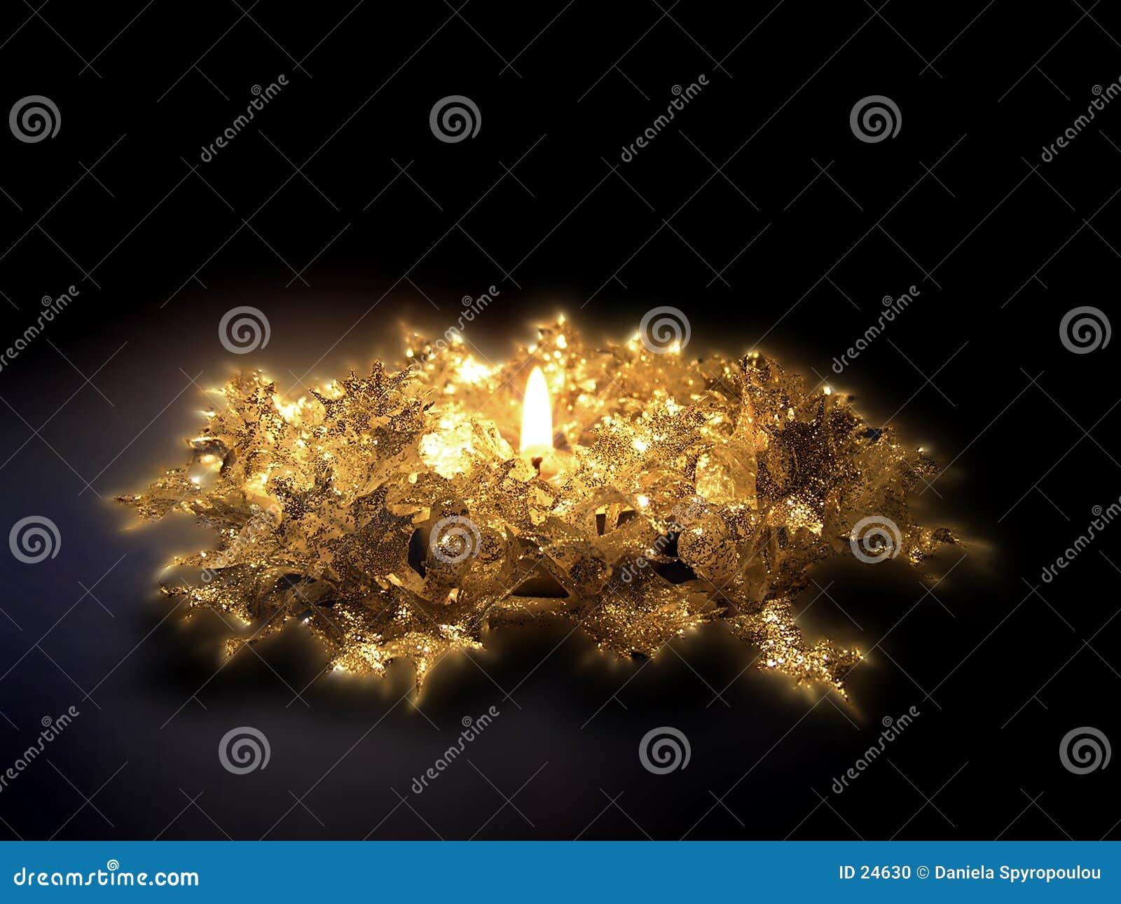 Download Bougie de Noël photo stock. Image du bougies, flammes, flamme - 24630