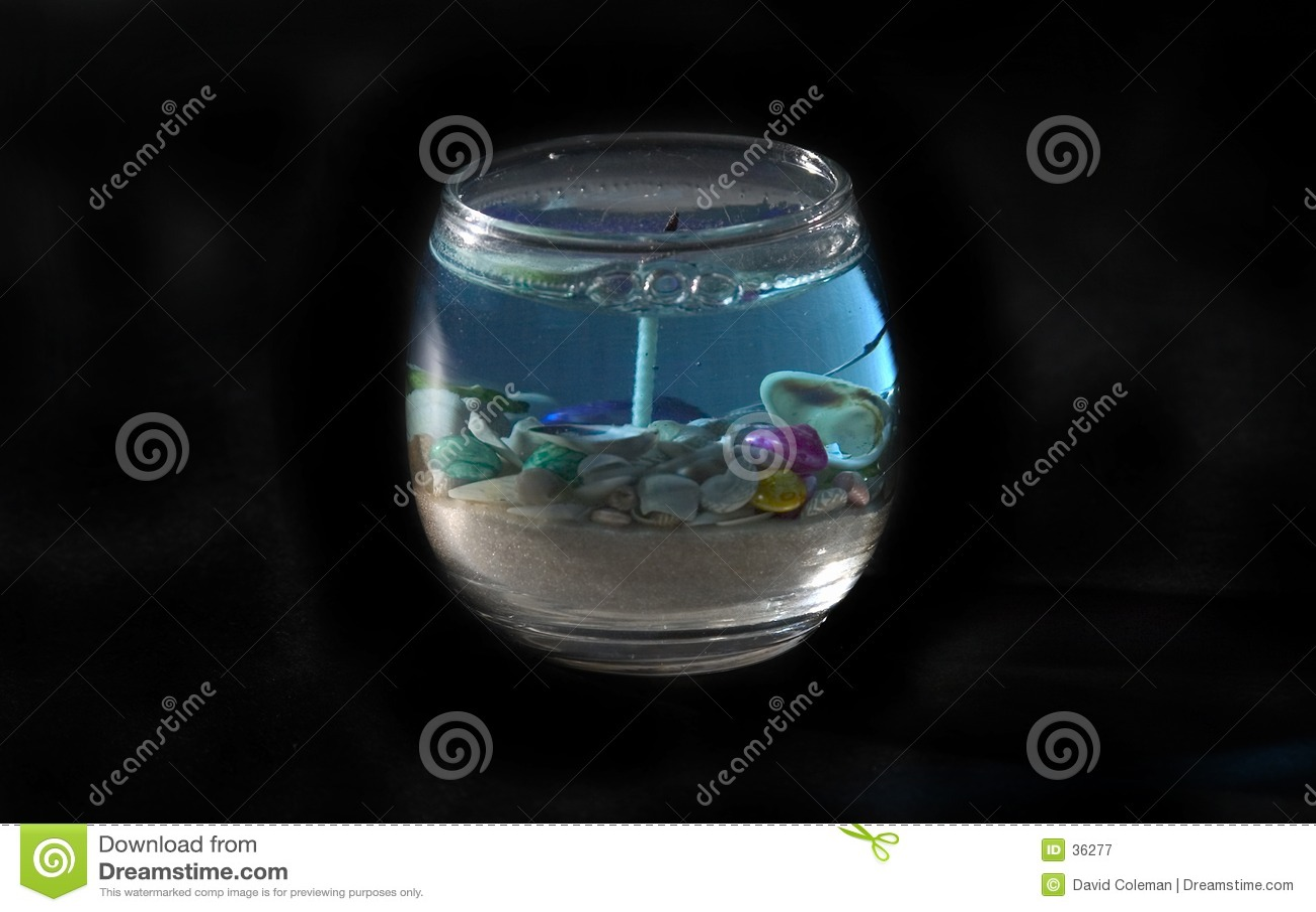 Bougie de thème d océan d isolement