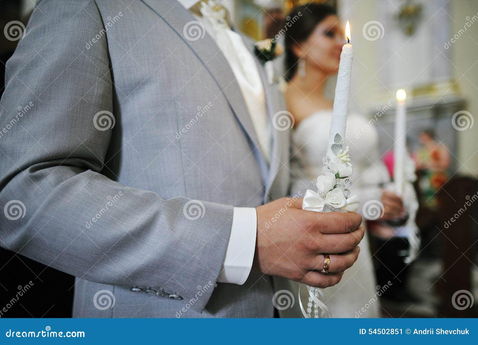 Bougies aux hads des nouveaux mariés