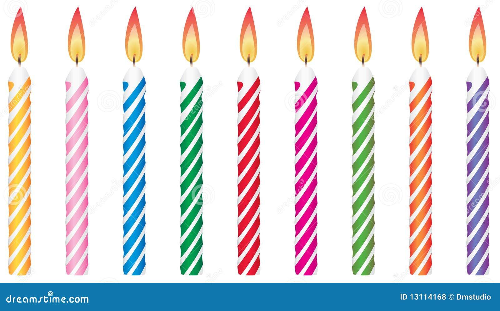 Bougies D'anniversaire Photos libres de droits - Image: 13114168