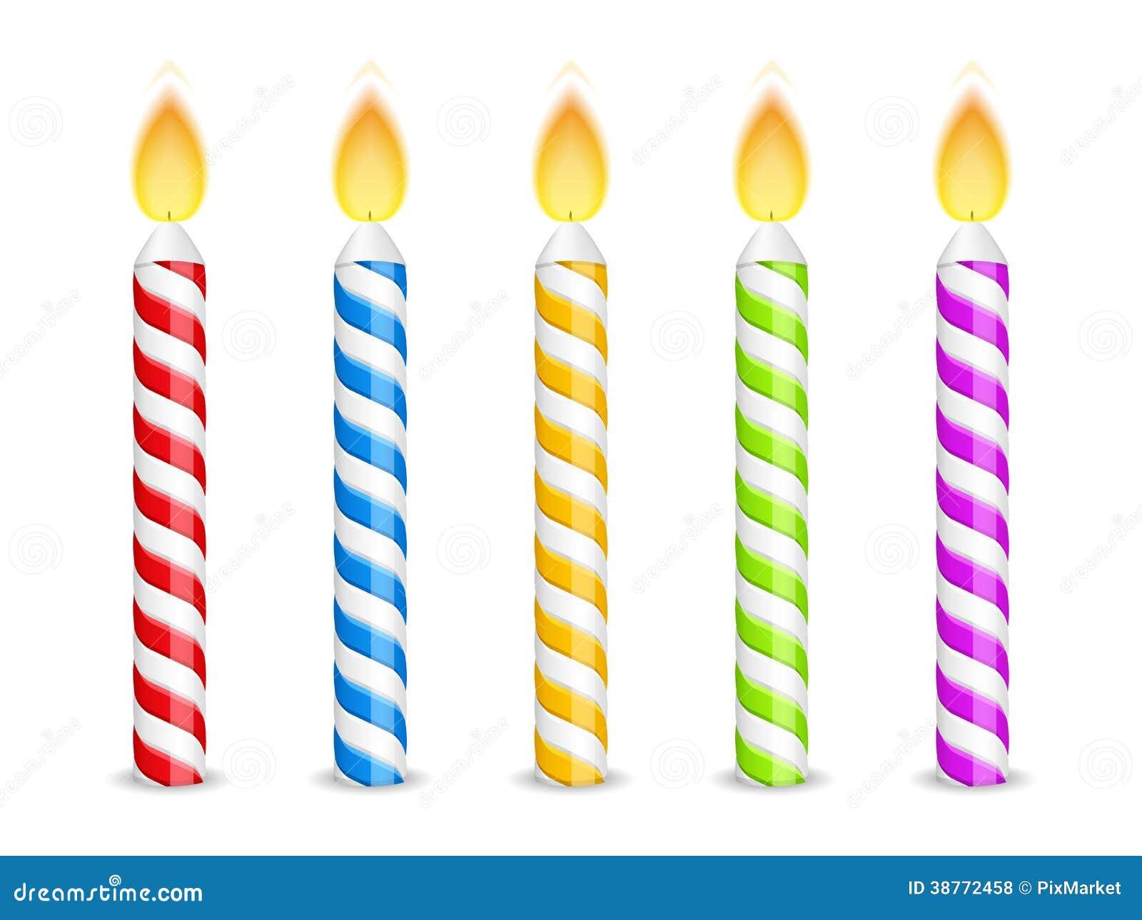 Bougies d 39 anniversaire illustration de vecteur - Dessin bougies anniversaire ...