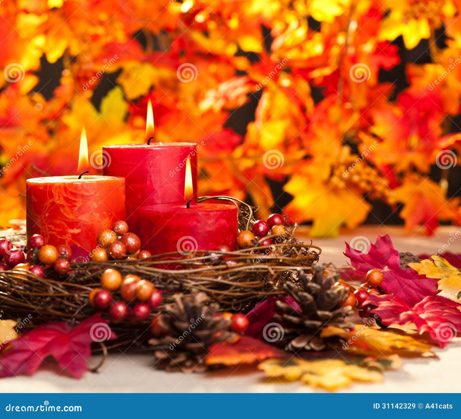 bougies d 39 automne images libres de droits image 31142329. Black Bedroom Furniture Sets. Home Design Ideas
