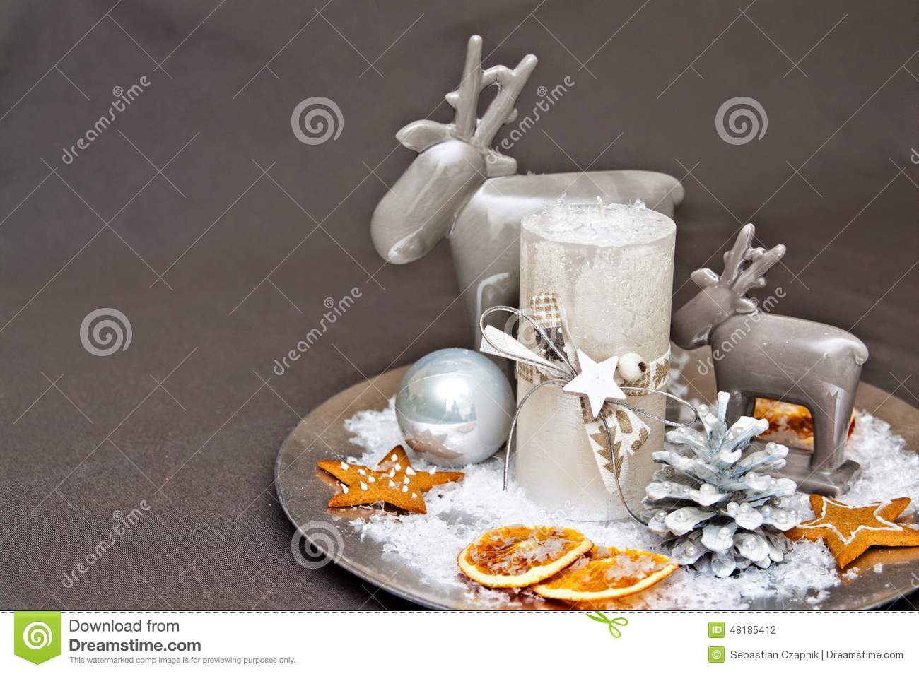 Bougies De No L De La Table Decoration Photo Stock Image 48185412