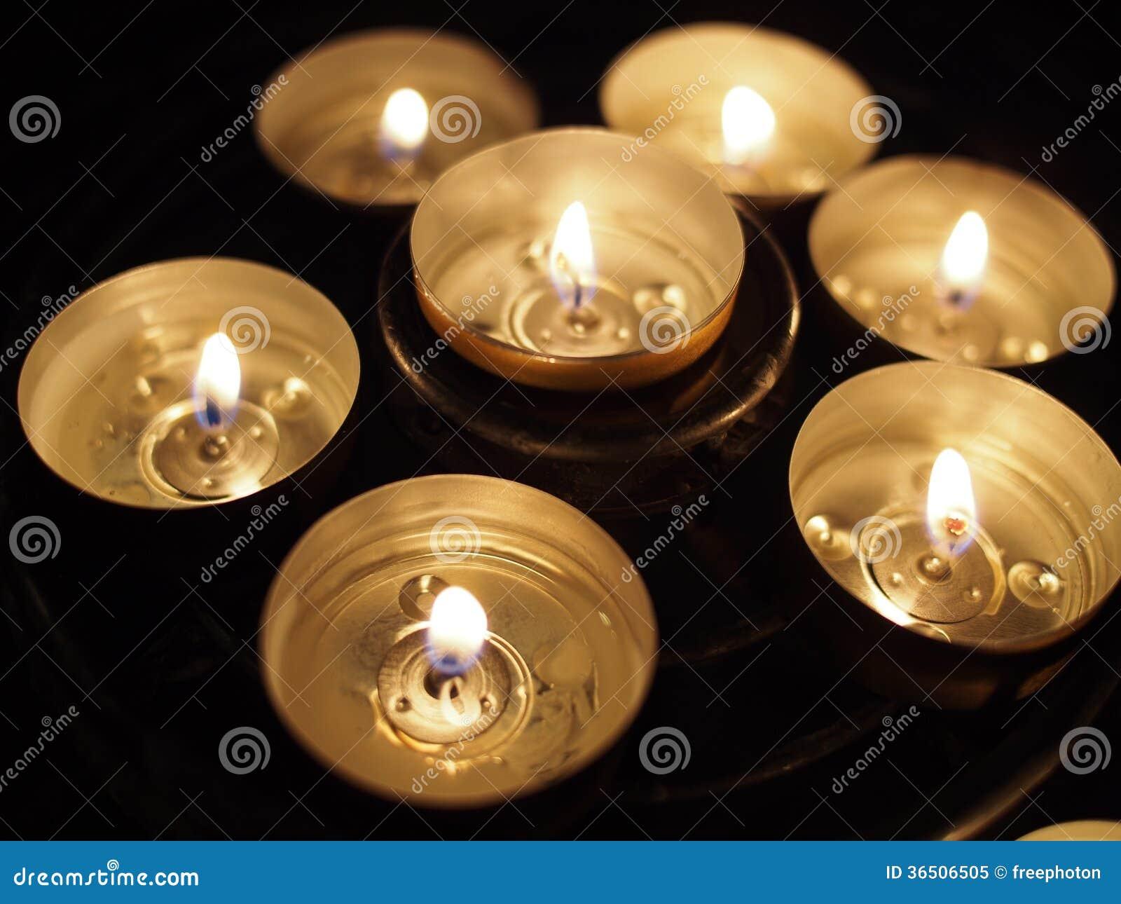 Bougies en cercle