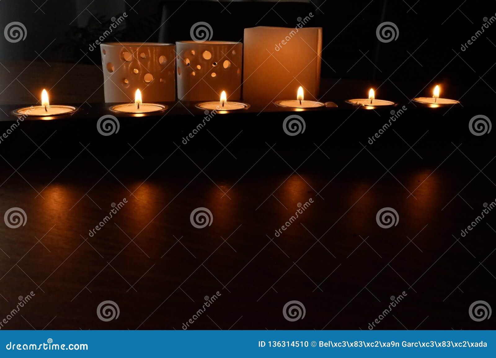 Bougies pour une illumination chaude