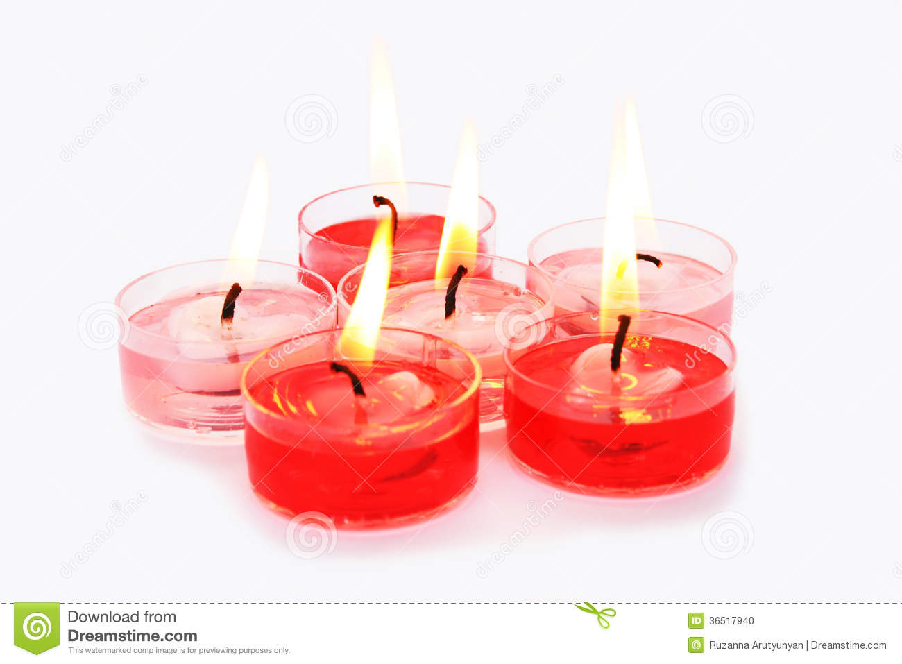 Bougies rouges