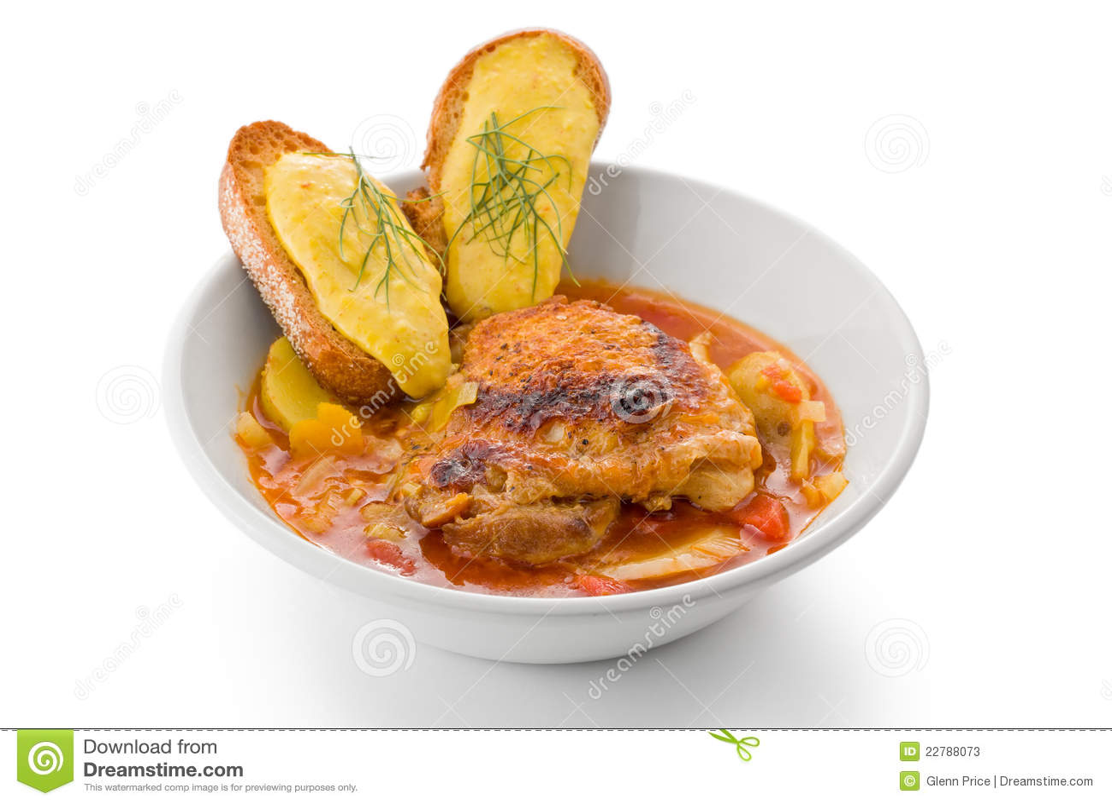 Bouillabaisse κοτόπουλο
