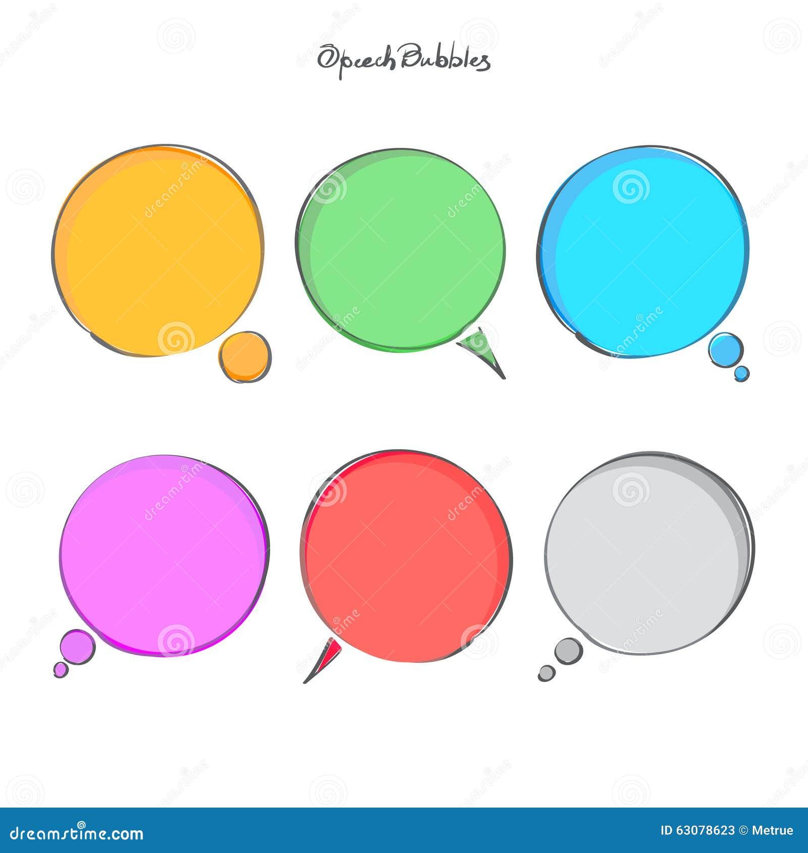 Download Bouillonne la parole illustration de vecteur. Illustration du cercle - 63078623