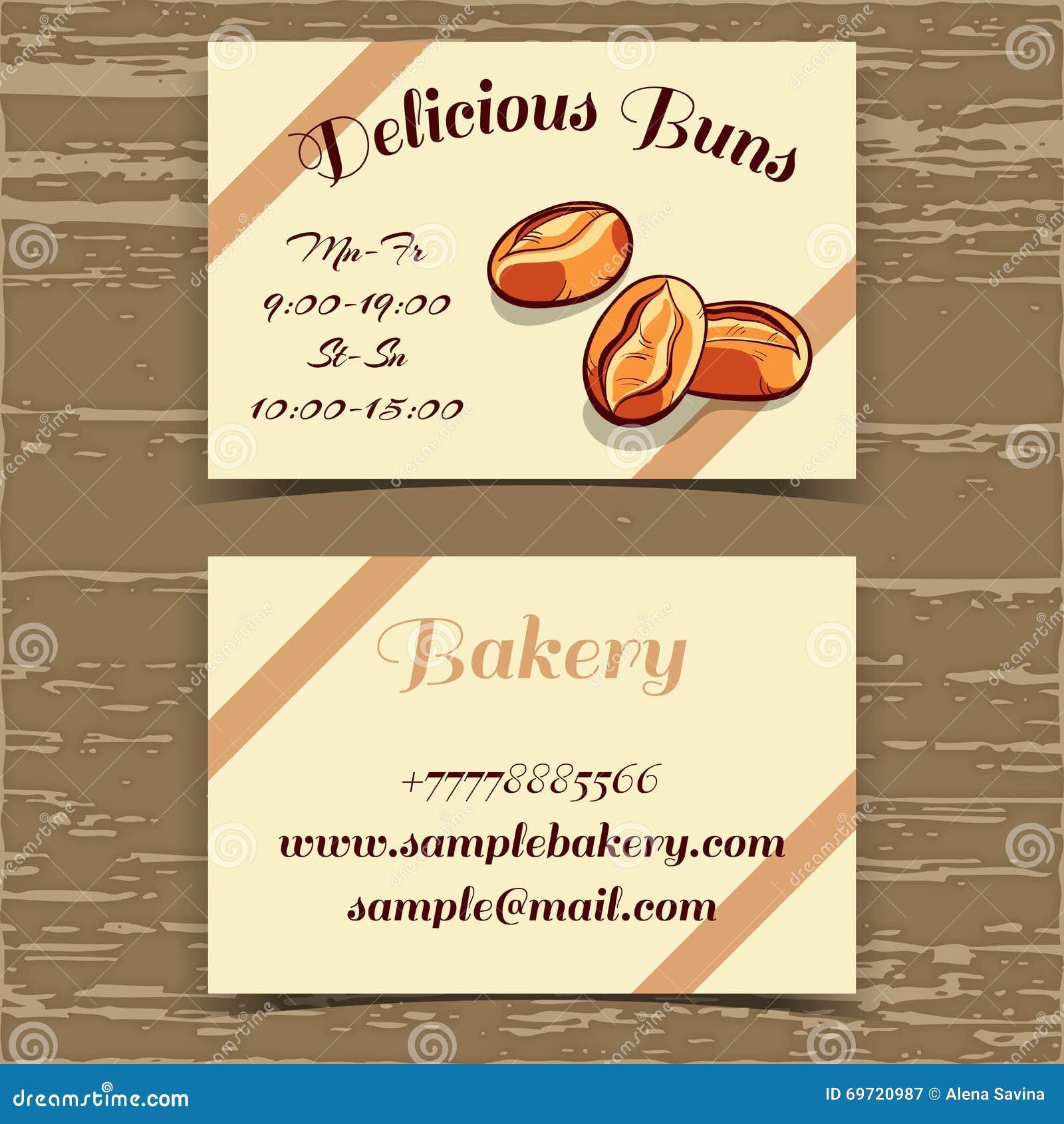 Boulangerie De Carte Visite Professionnelle Calibre
