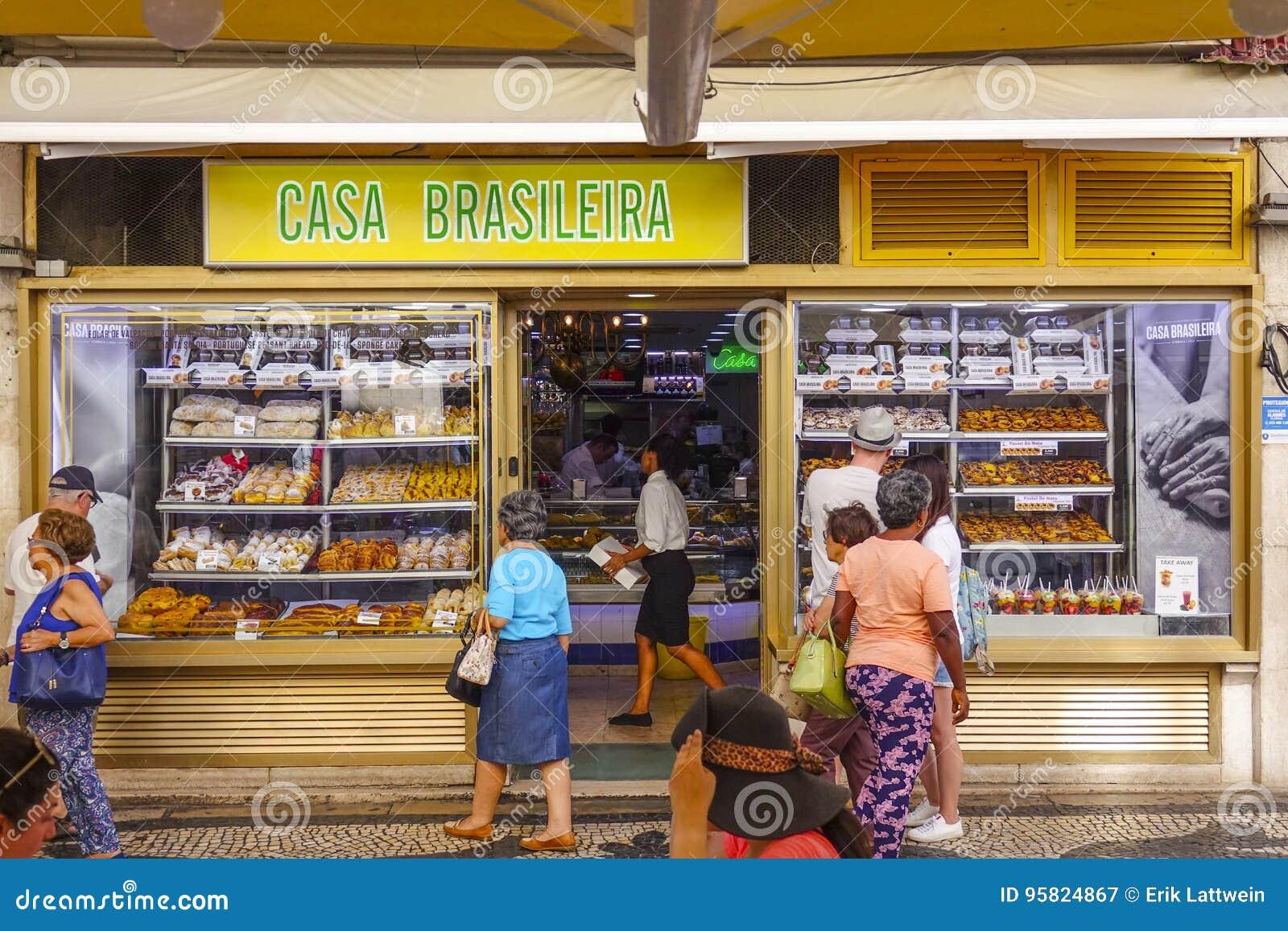 Boulangerie et boutique de pâtisserie populaires à Lisbonne , café  Brasileira