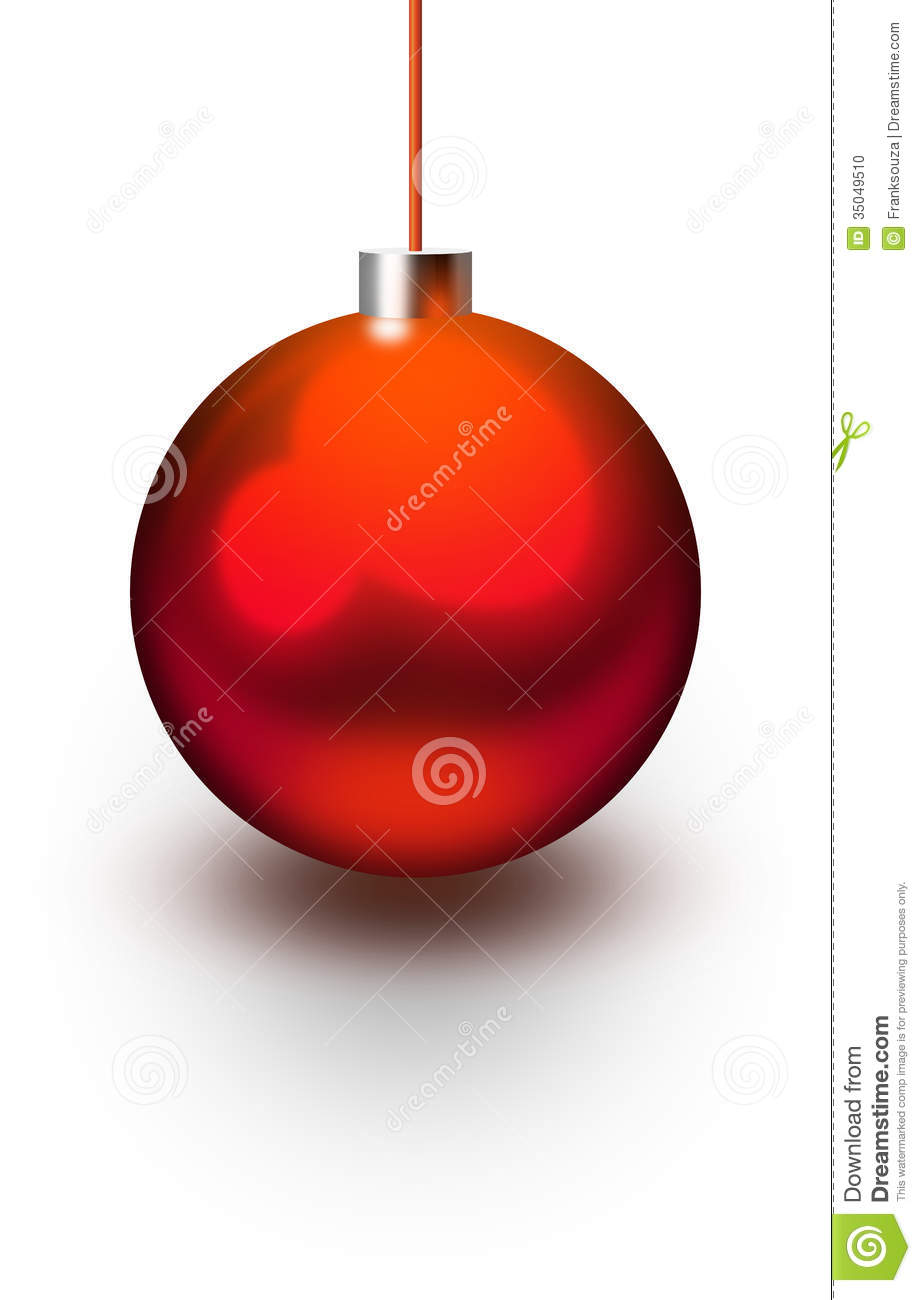 Boule brillante de no l rouge photo stock image 35049510 - Boule de noel rouge et blanche ...