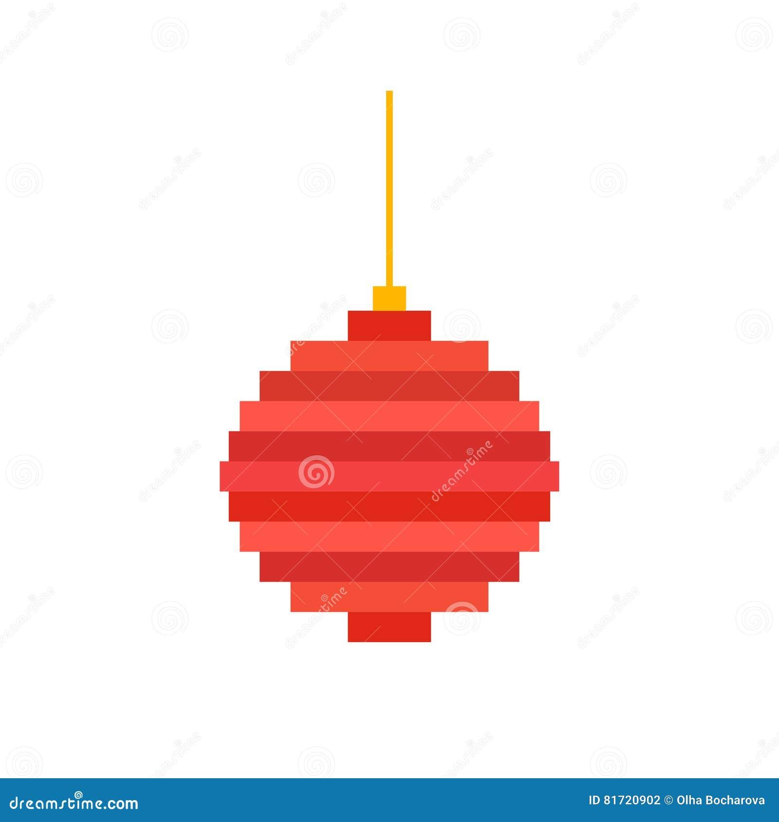 Boule D Arbre De Noël D Art De Pixel Illustration De Vecteur
