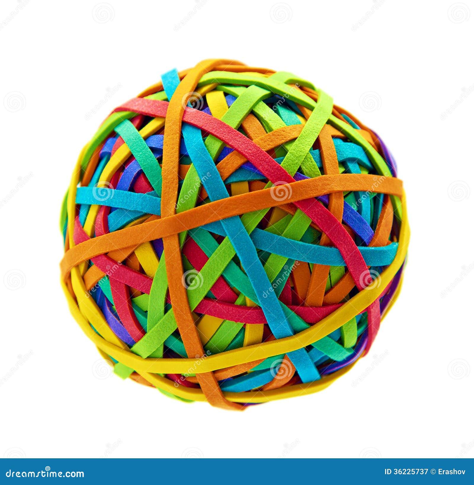 Boule d une bande élastique