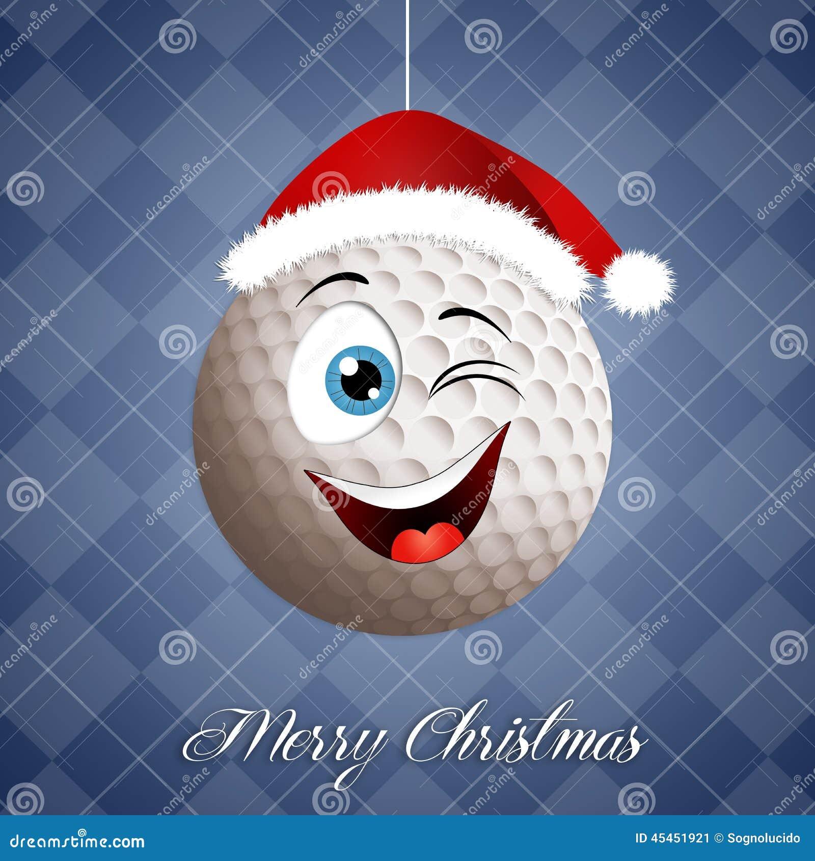 Boule De Golf Drôle Pour Noël Illustration Stock   Illustration du