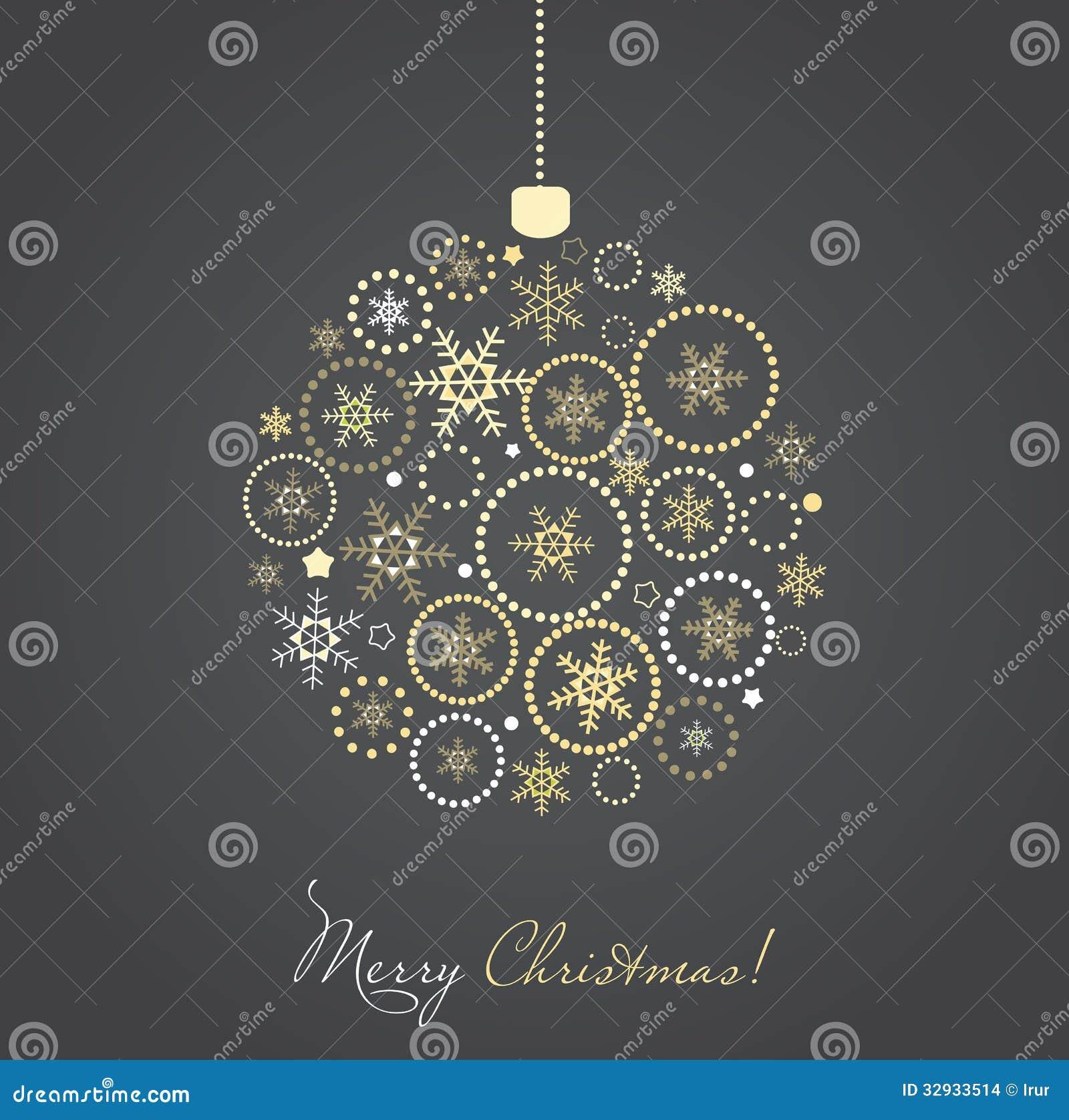 Boule de Noël faite à partir des flocons de neige dor et dargent ...