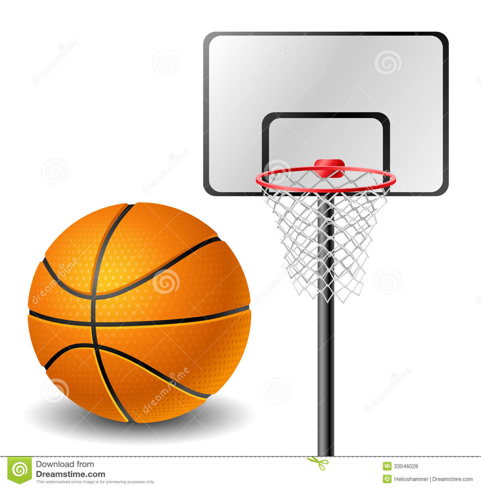 boule et panier de basket ball illustration stock illustration du loisirs ball 33046028. Black Bedroom Furniture Sets. Home Design Ideas