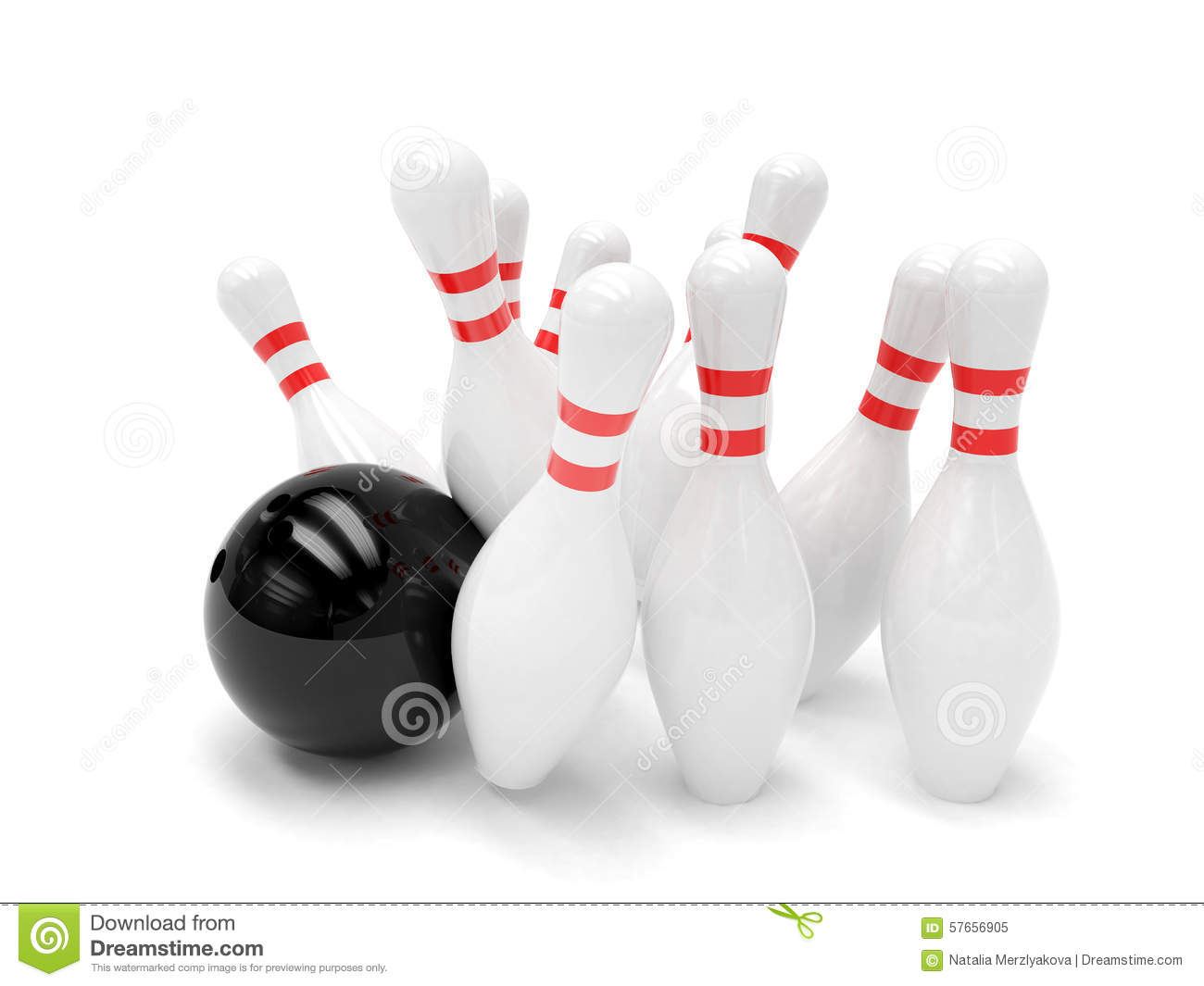 Boule et quilles de bowling d 39 isolement illustration stock for Decoration quille de bowling