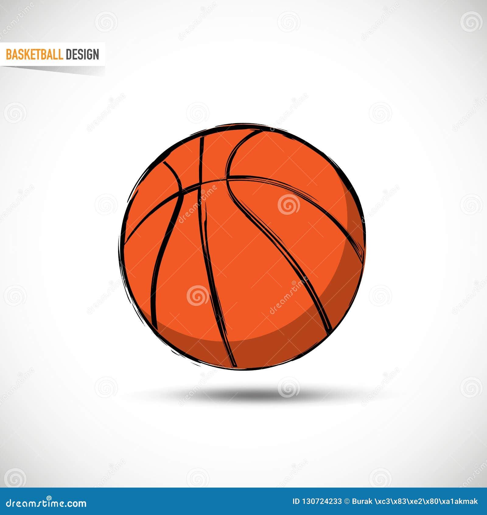 Boule orange tirée par la main de basket-ball