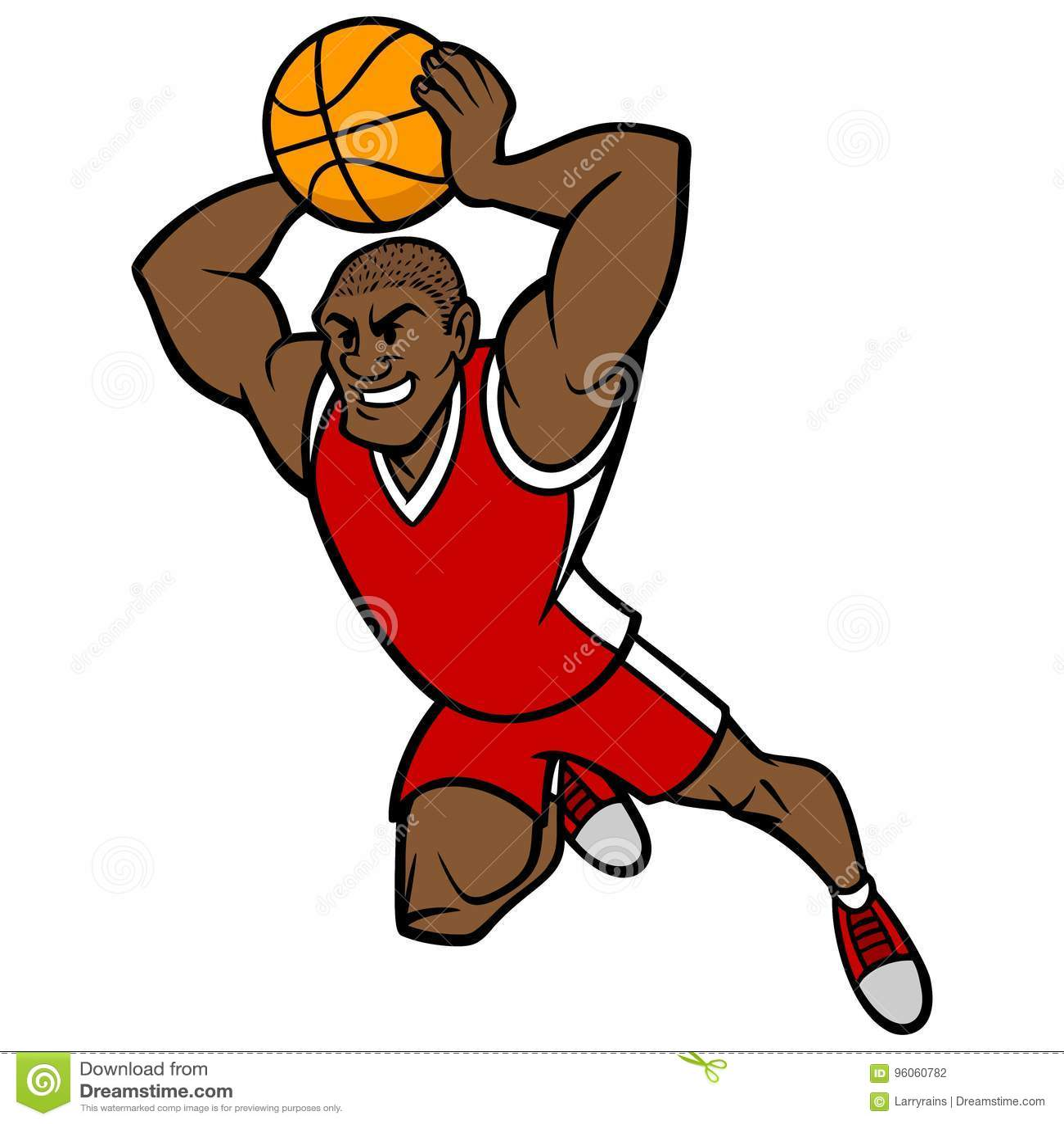 Boule trempante de joueur de basket