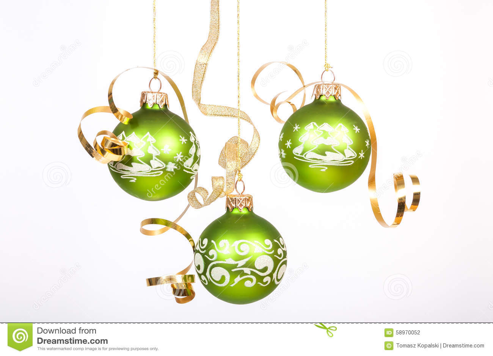 Boule Noel Verte Boule verte de Noël photo stock. Image du verte, boule   58970052