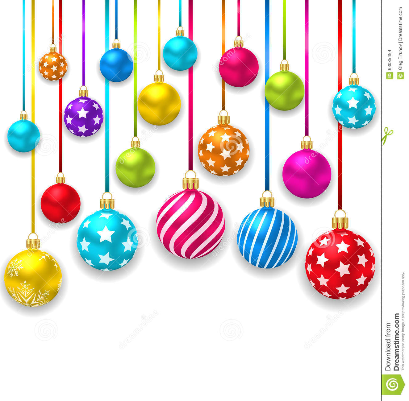Download Boules Colorées D'Ornamental De Noël De Collection Illustration de Vecteur - Illustration du christmastime, noël: 63085494