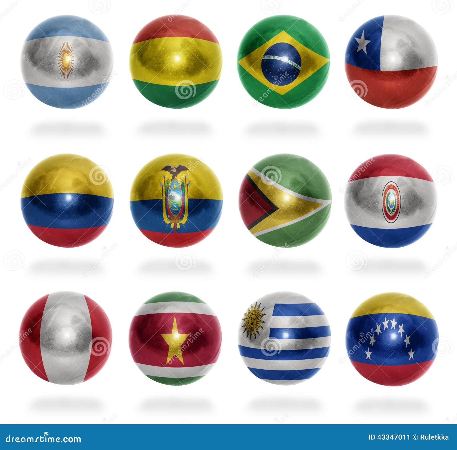 Boules de drapeau de pays de l 39 am rique du sud illustration stock image 43347011 - Drapeau de l amerique ...