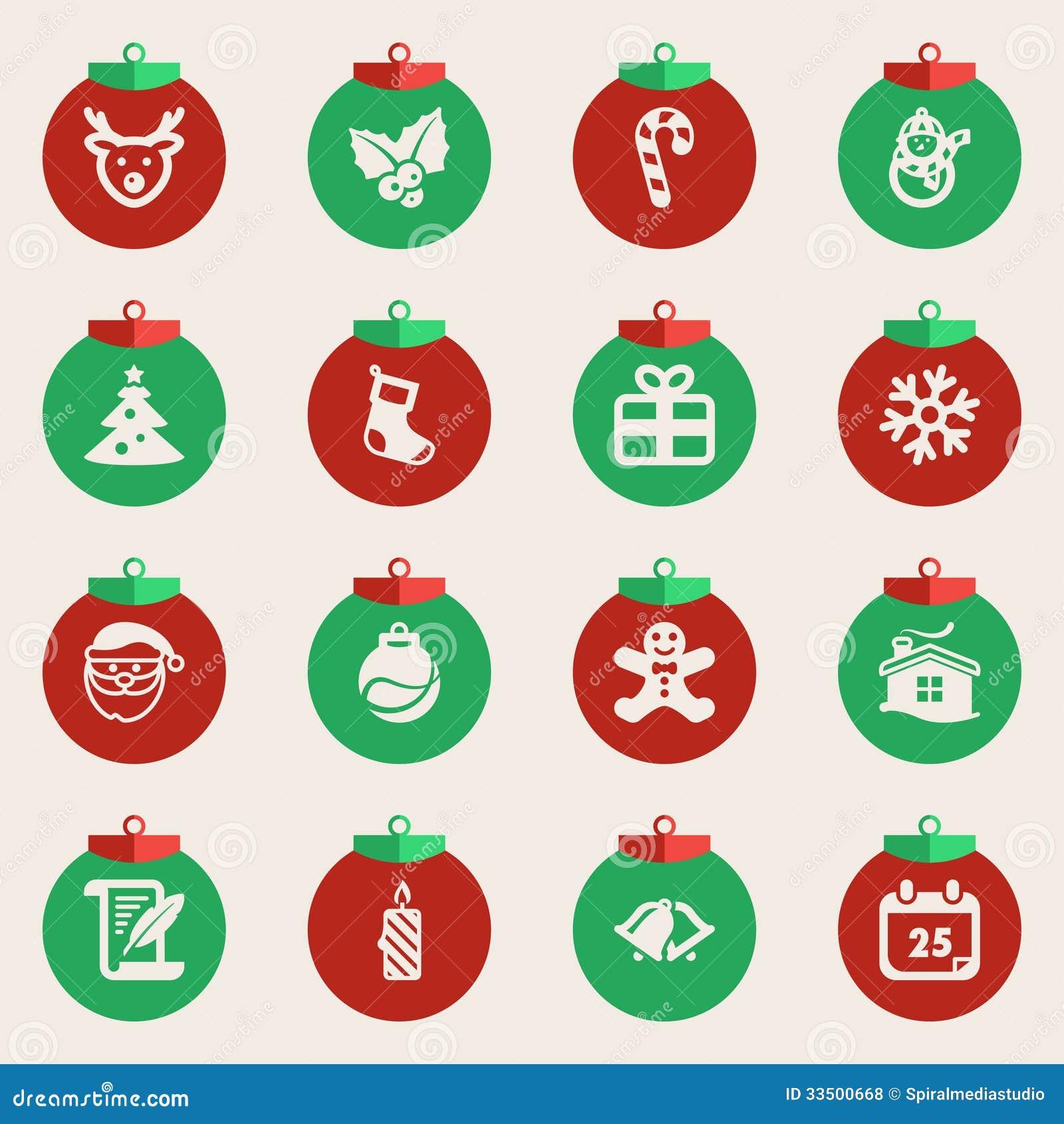 symbole de noel Boules De Noël Avec Des Symboles De Noël Illustration de Vecteur  symbole de noel