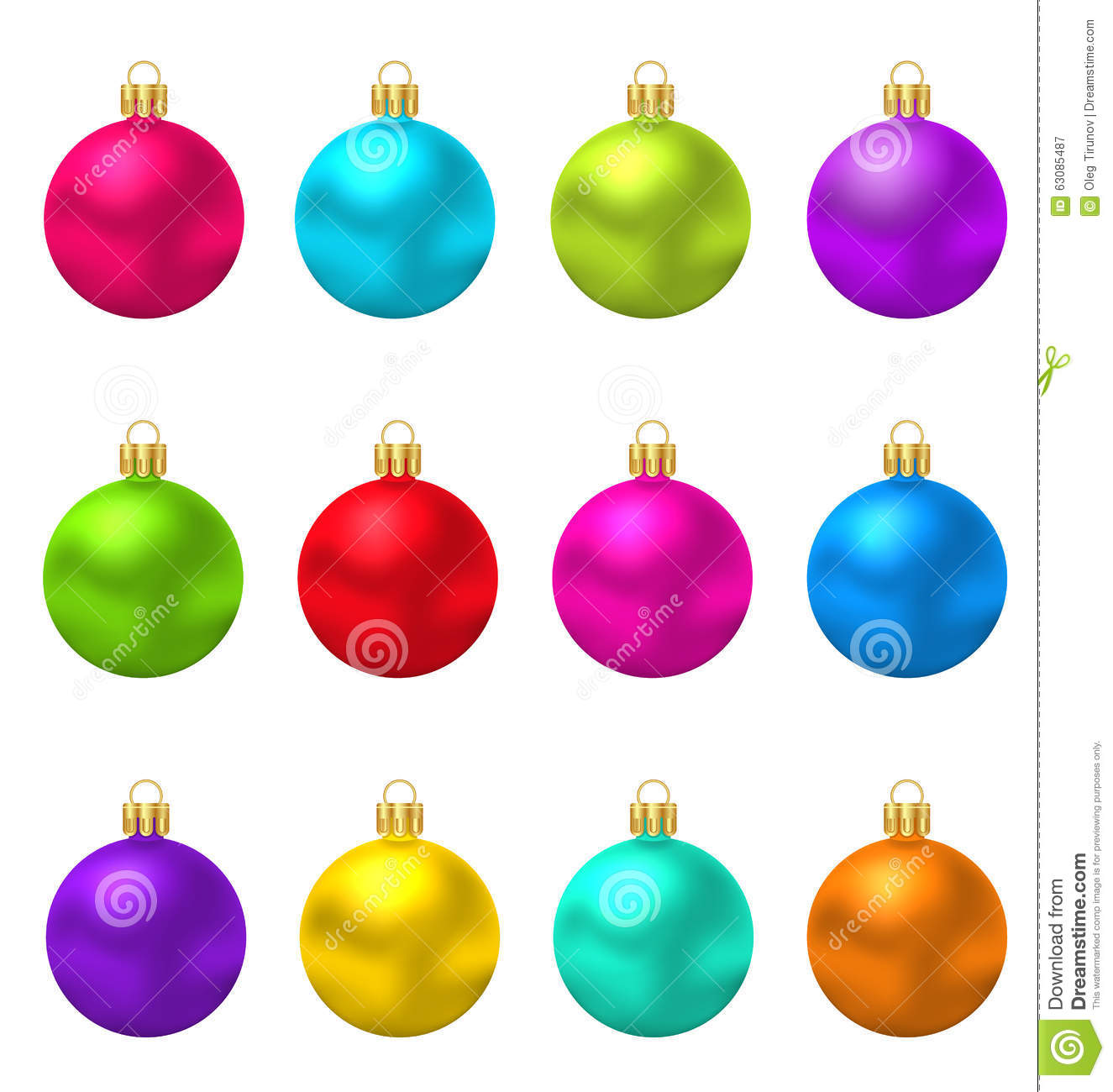 Download Boules En Verre De Noël Coloré Illustration de Vecteur - Illustration du coloré, vert: 63085487
