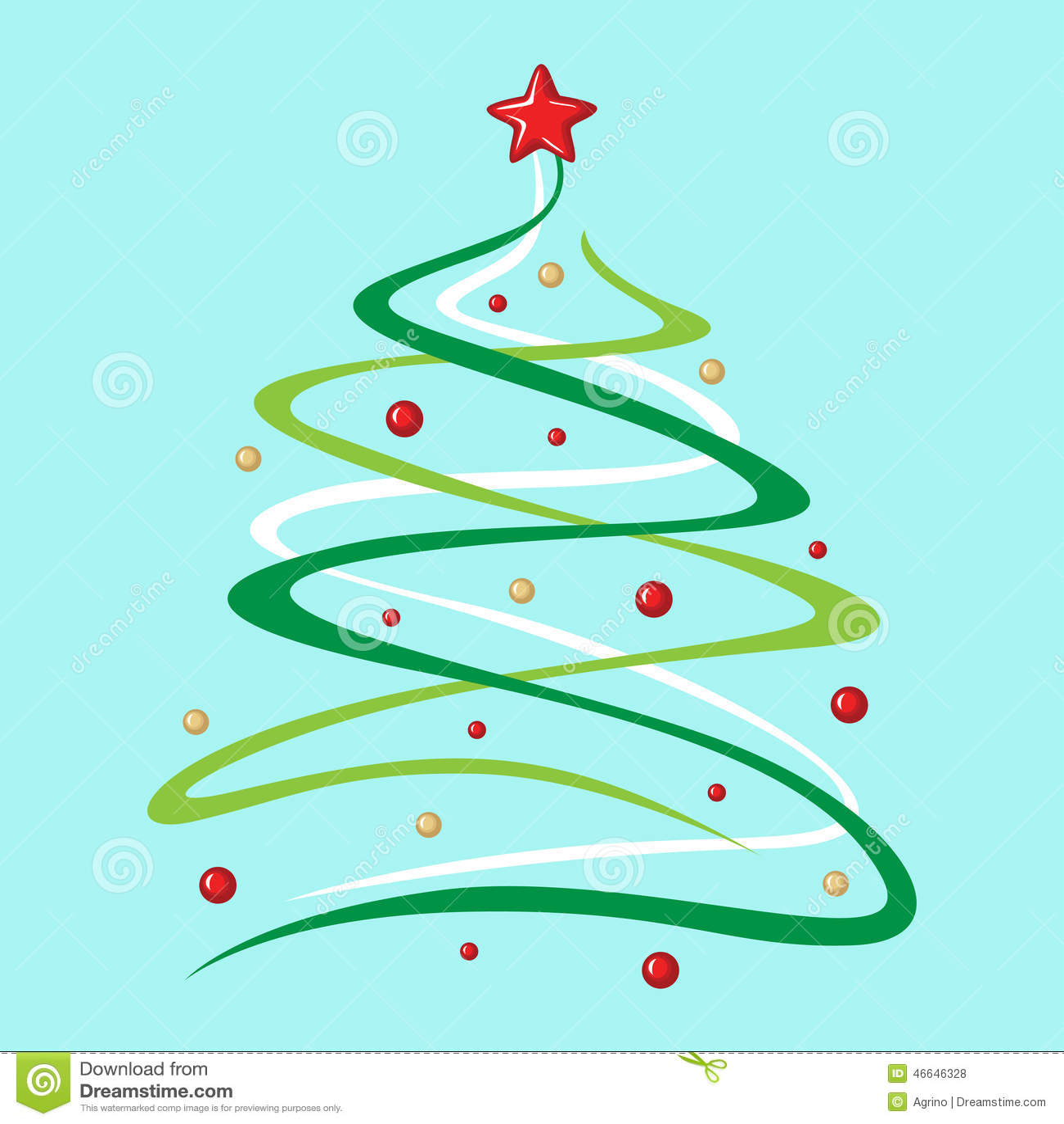 Boules et toile d cor es d 39 arbre de sapin de no l sur le fond bleu illustration de vecteur - Dessin sapin vert ...