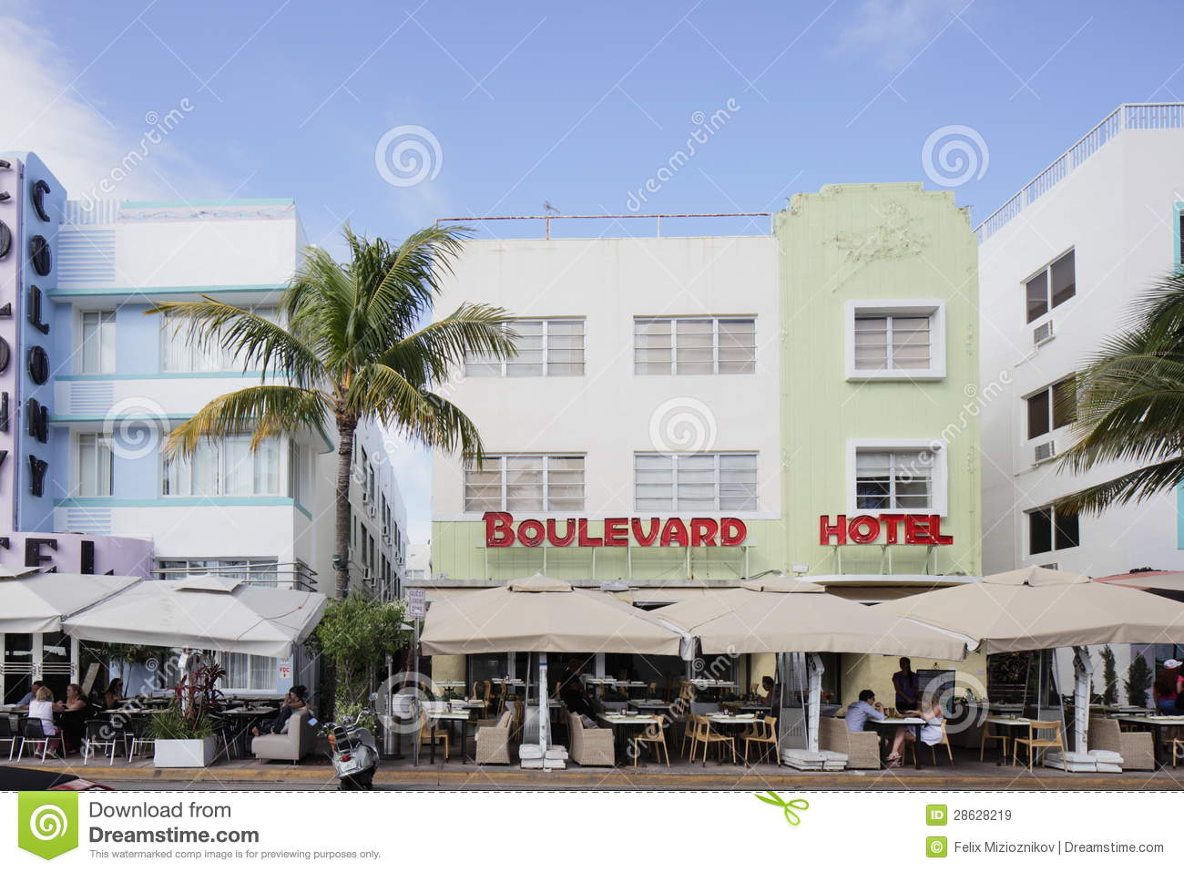 The Boulevard Hotel Miami Beach Editorial Stock Image