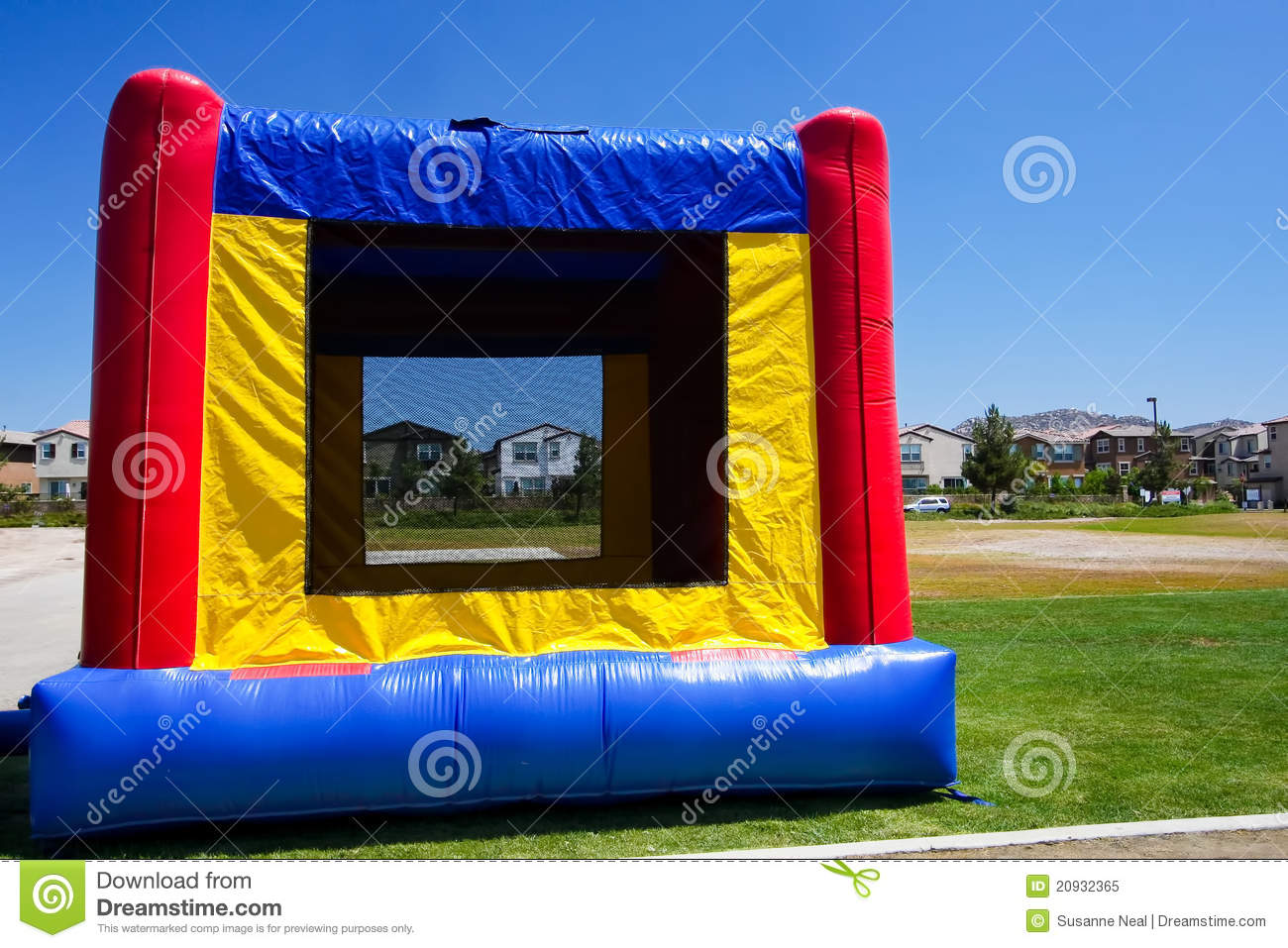 blue bounce bouncy house inflatable - Inflatable Bounce House