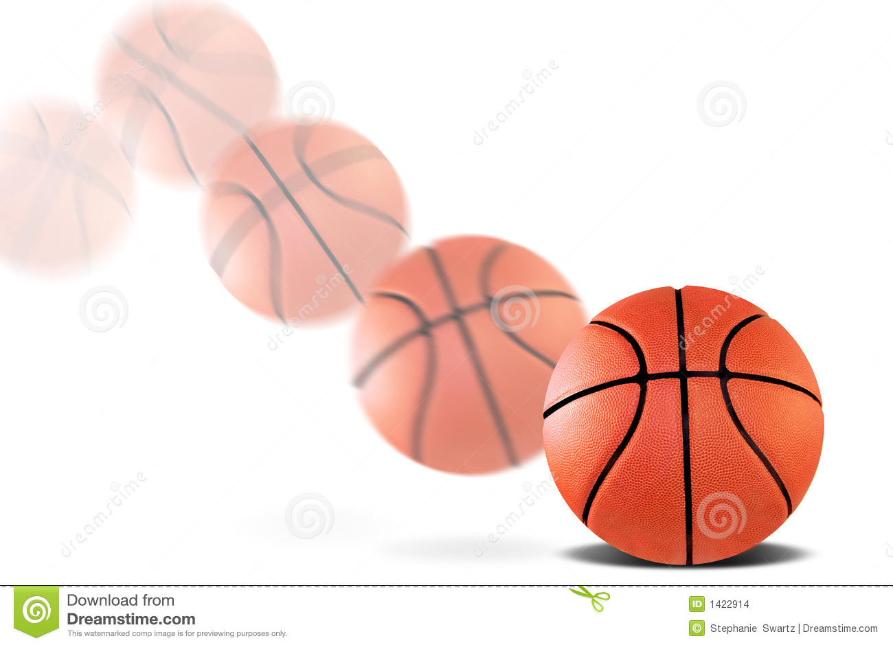 Stock images bouncing basketball