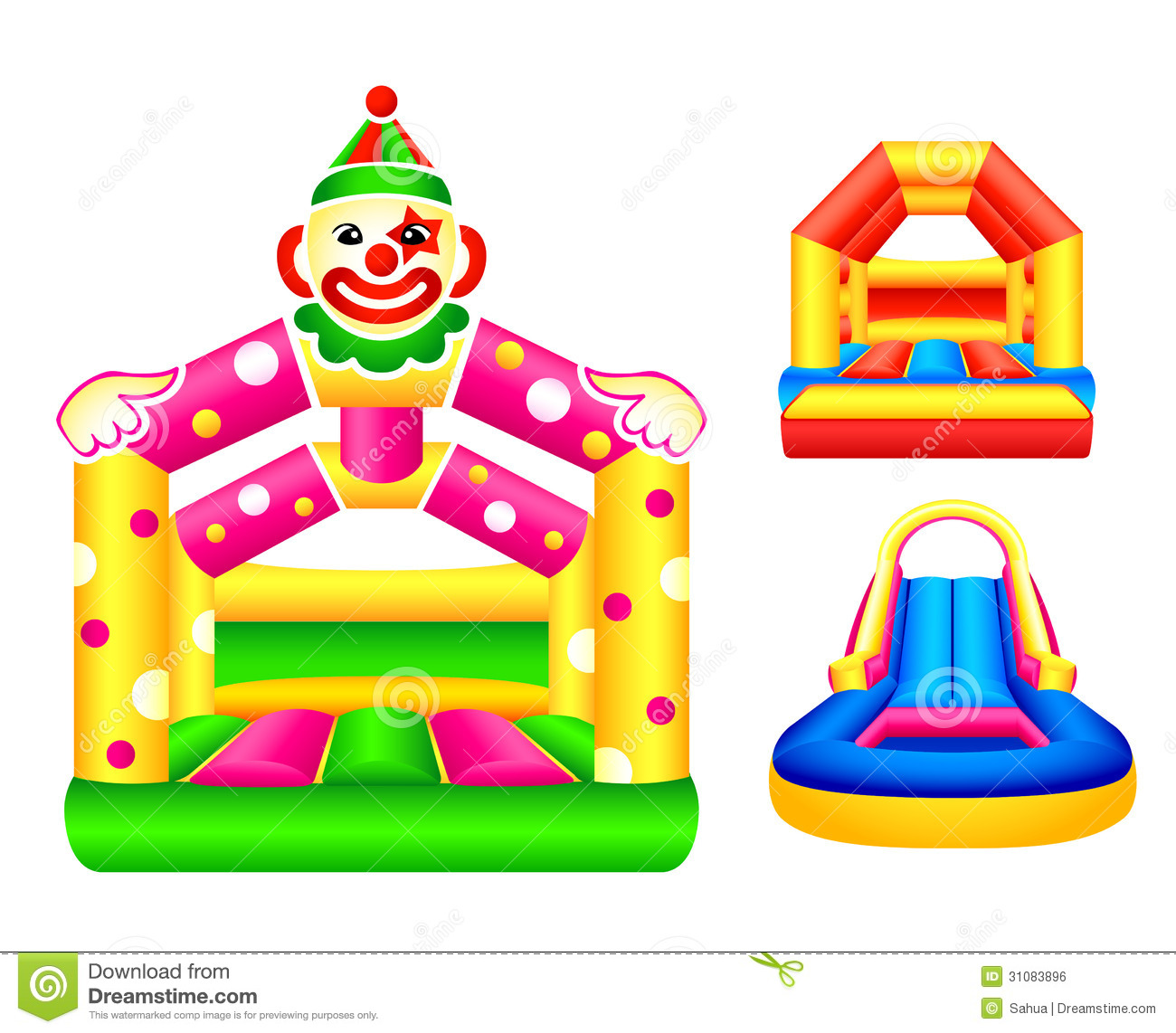 free bounce house clipart - photo #31