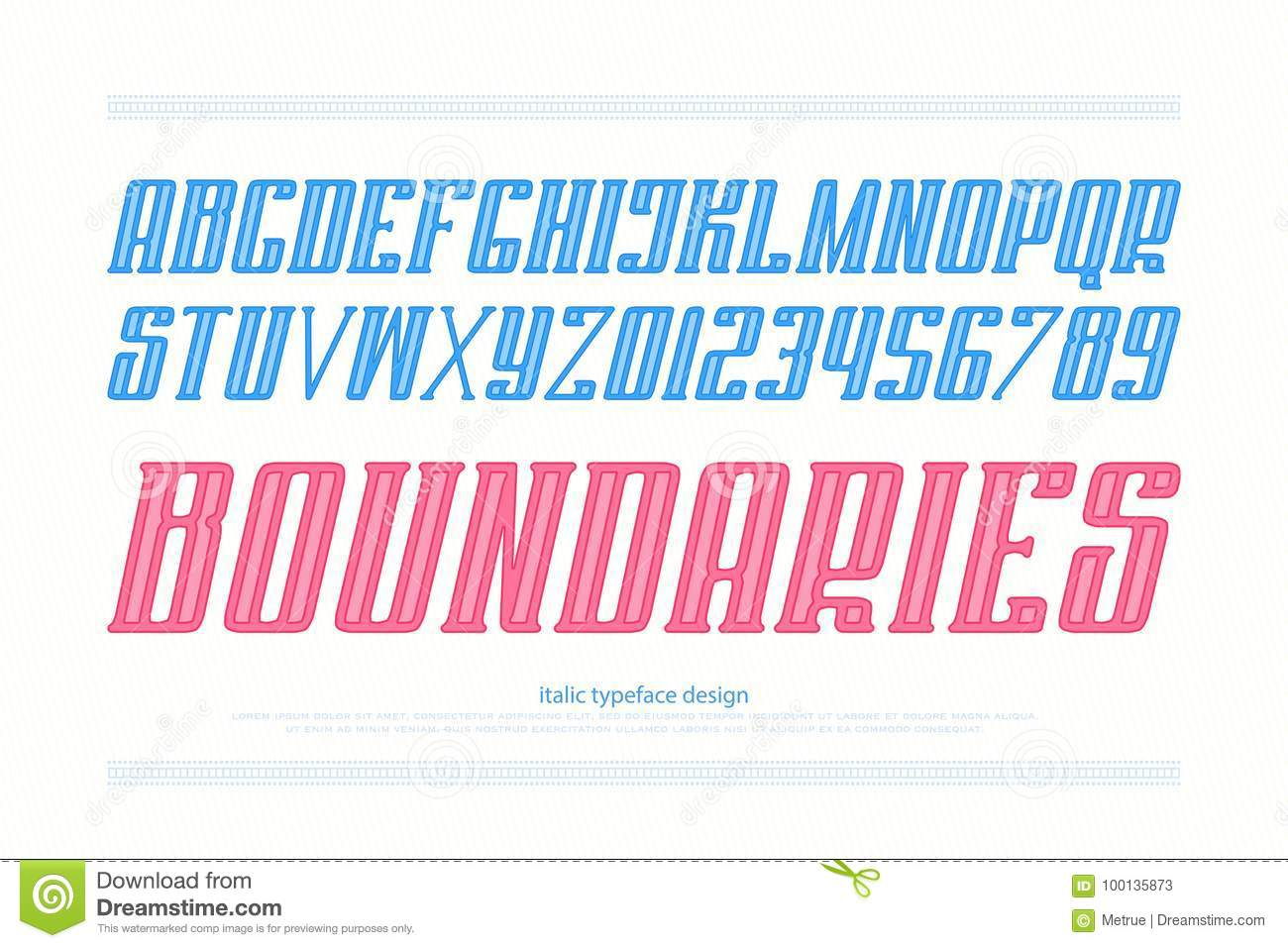 Boundaries stock vector  Illustration of feature, font