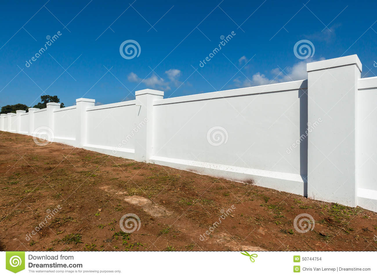 Boundary wall white stock photo image of blocks bricks for Wall pictures