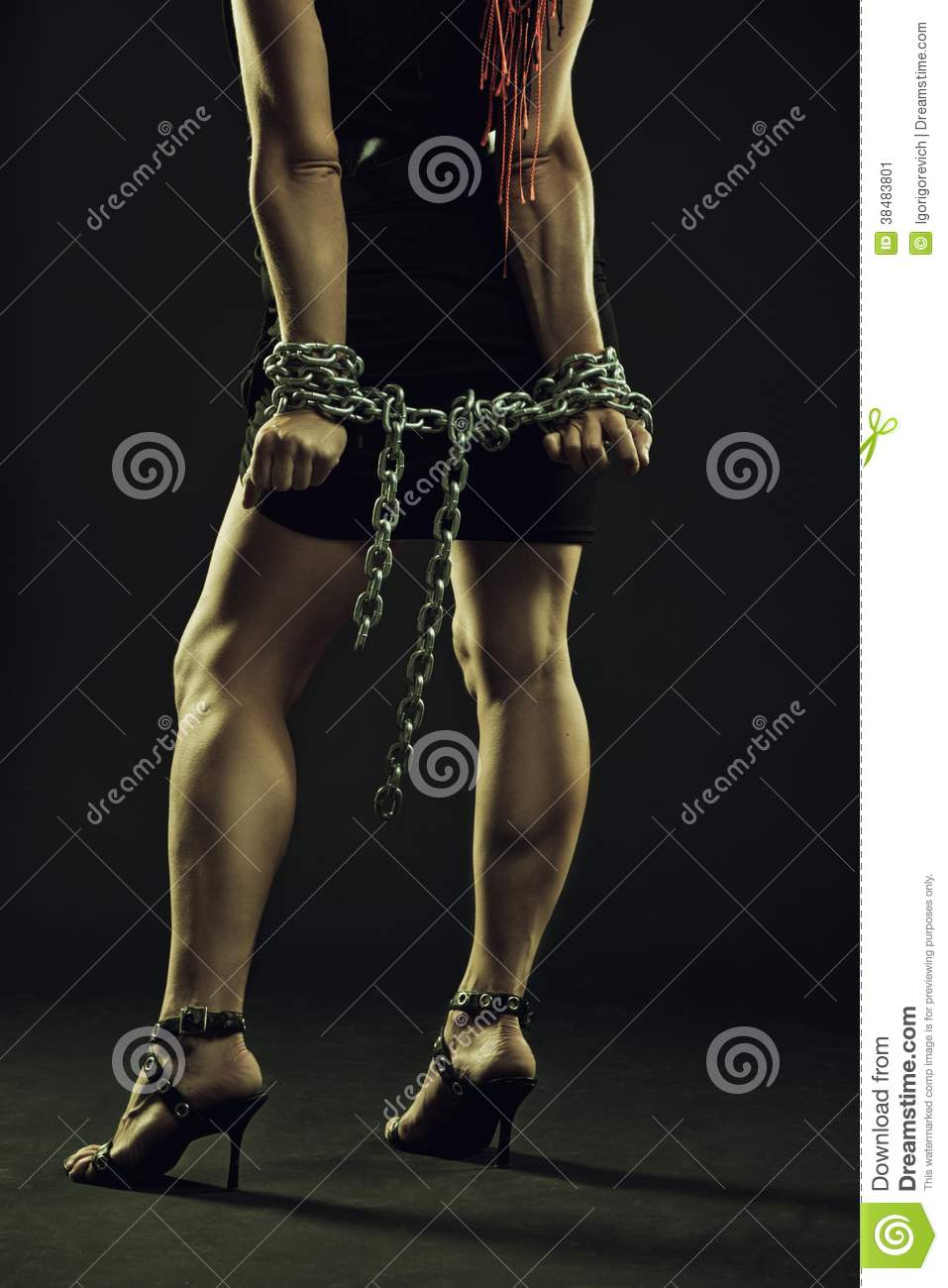chained Busty and